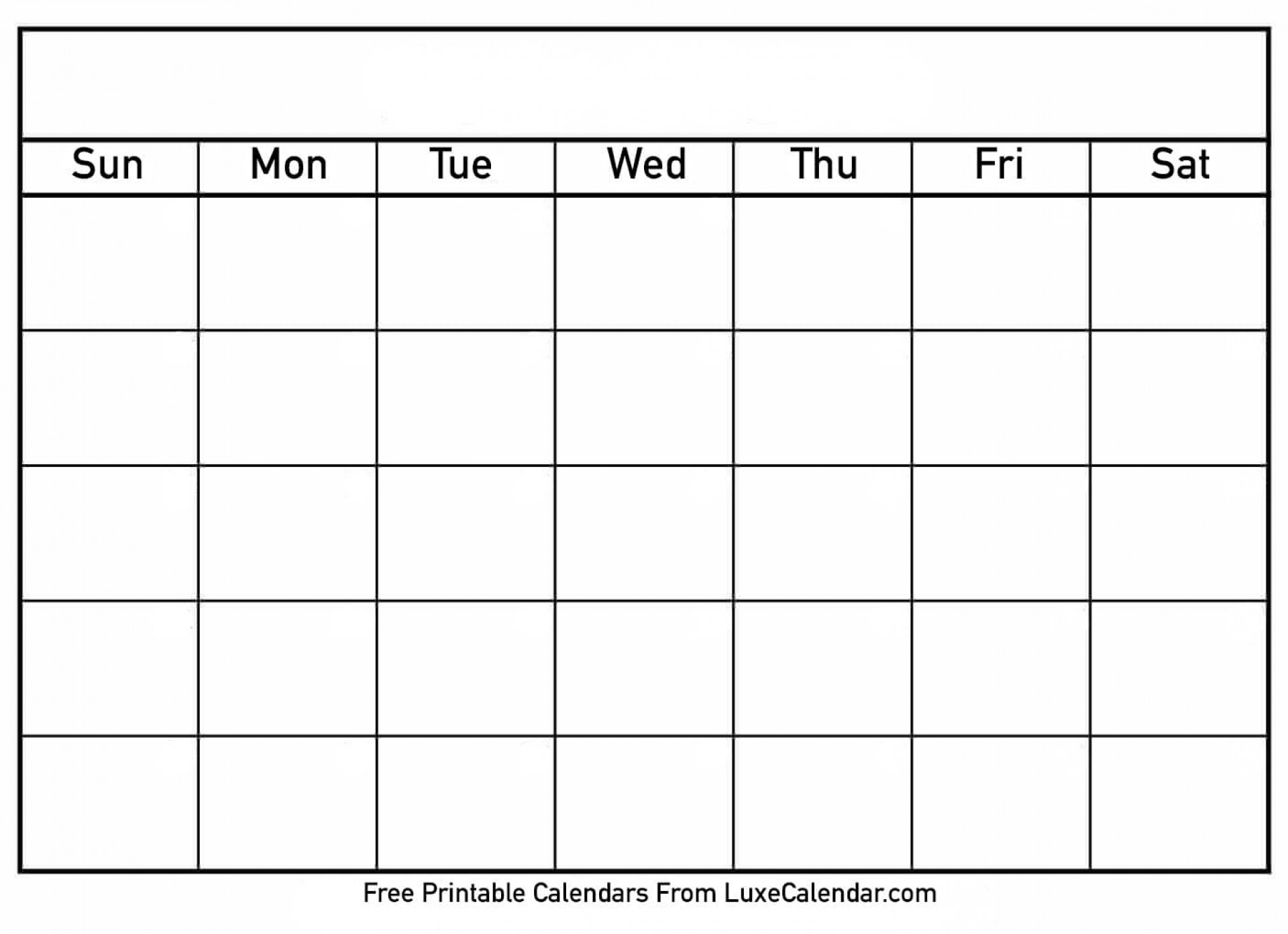 002 Free Blank Calendar Template Singular Ideas Monthly