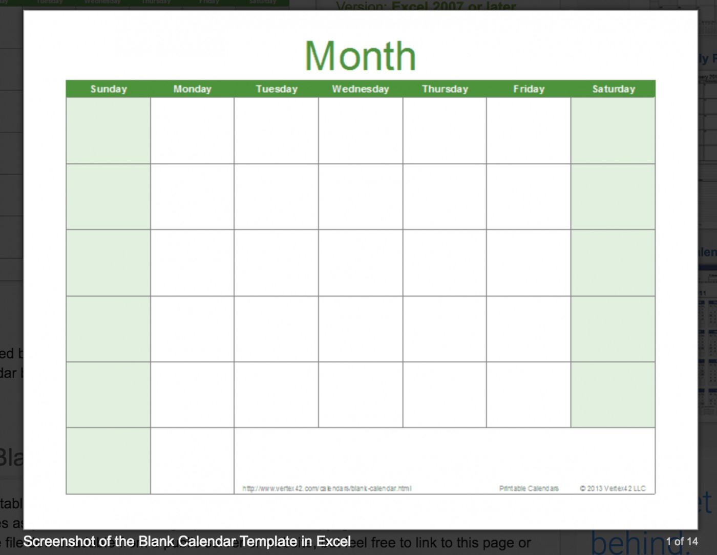 002 Template Ideas Free Excel Calendar Printable Incredible