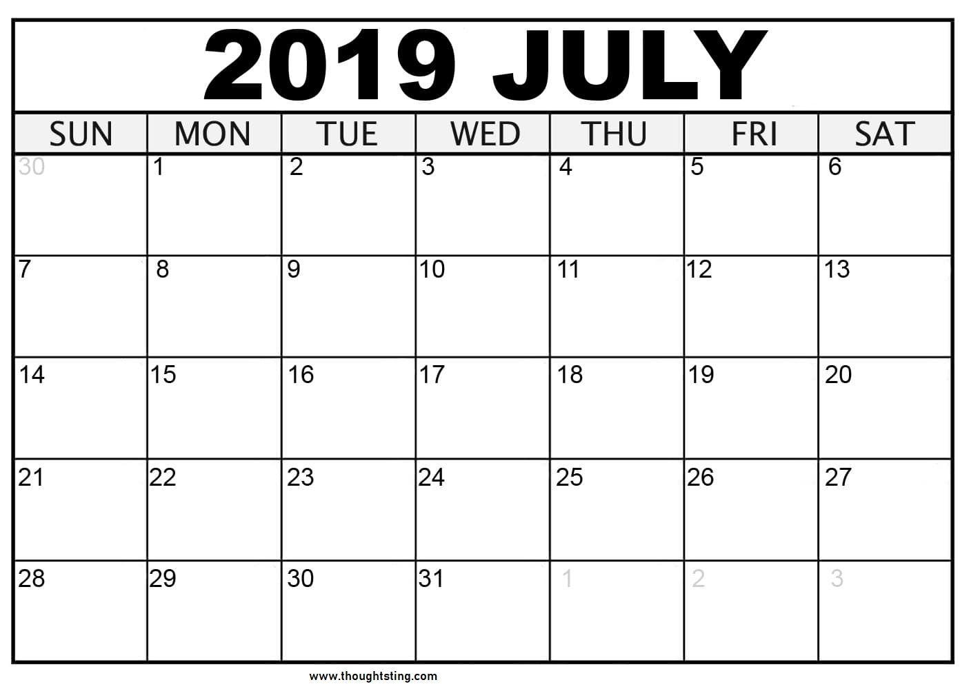 026 Blank Monthly Calendar Template Pdf Unusual Ideas 2020