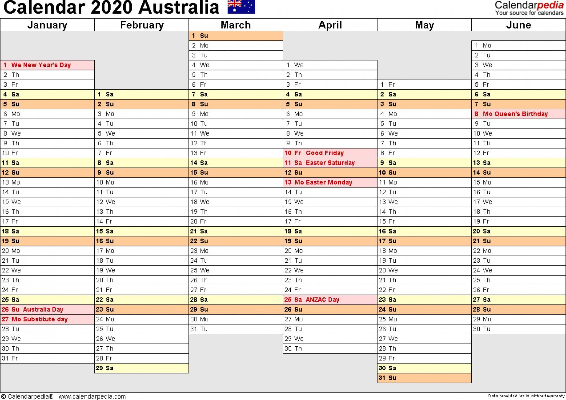 036 Year Planner Australia Calendar Template Google Sheets