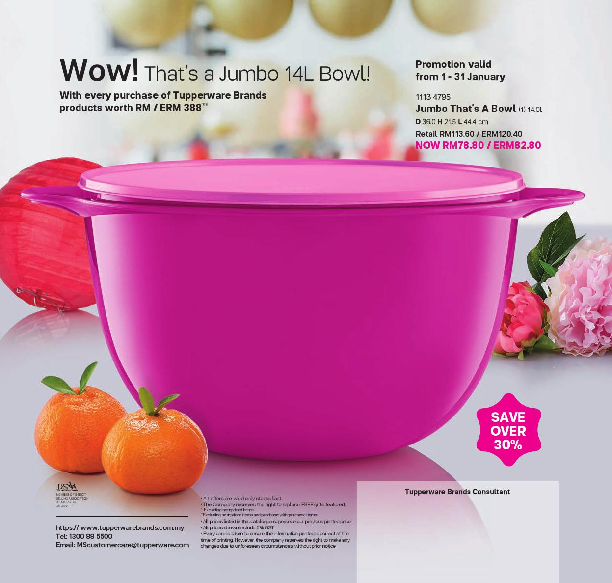 1 January - 15 February 2017 | Tupperware Plus