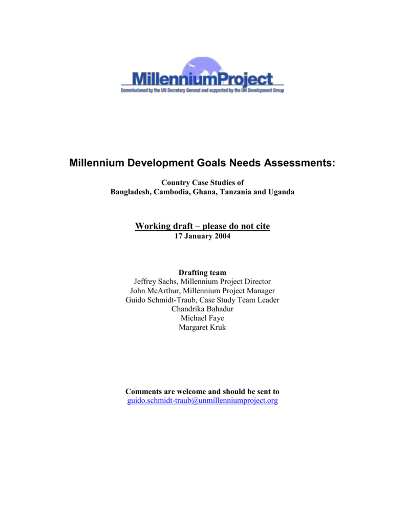 1 - Un Millennium Project