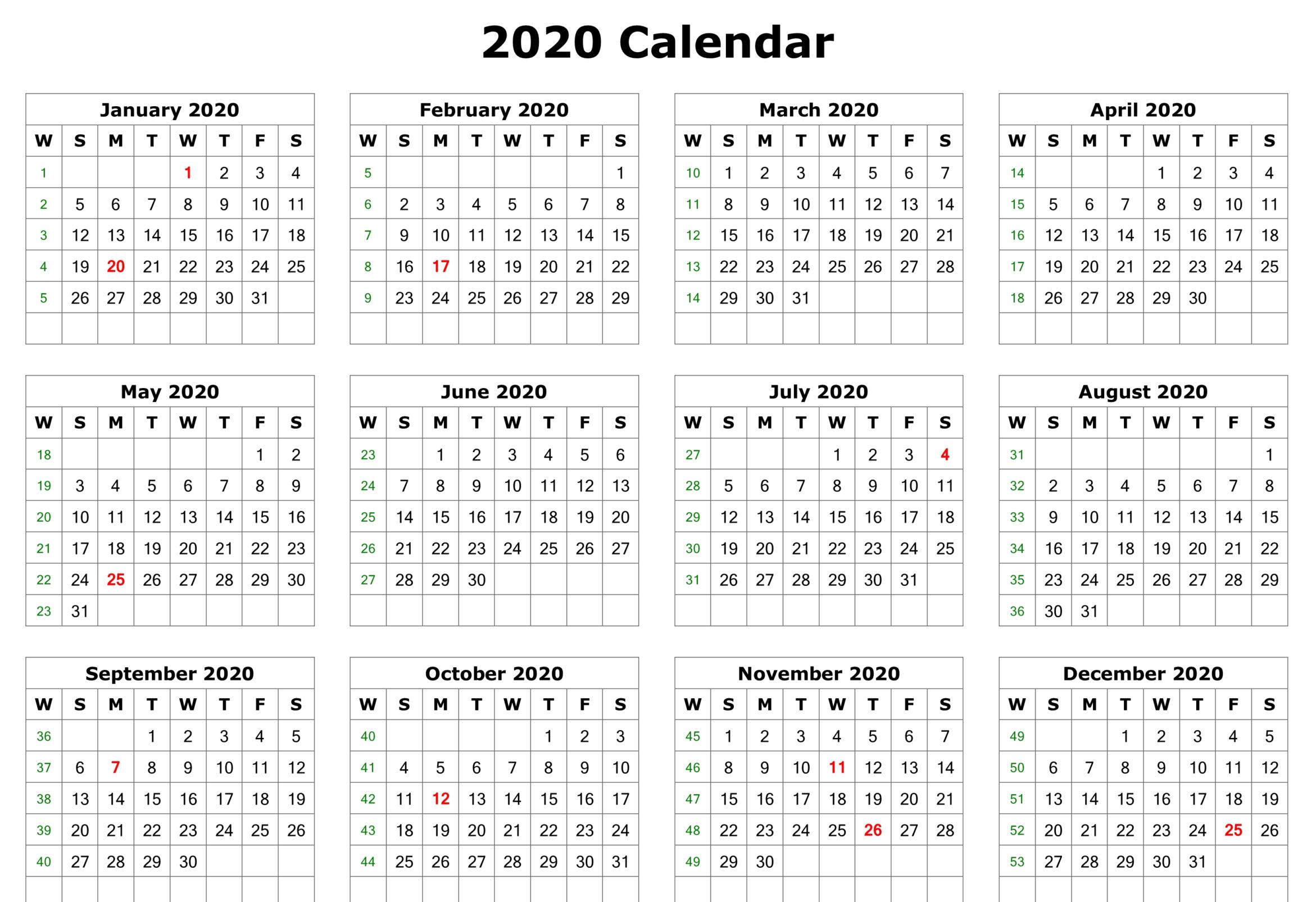 12 Month Calendar 2020 Edition Wall Calendar | 12 Month