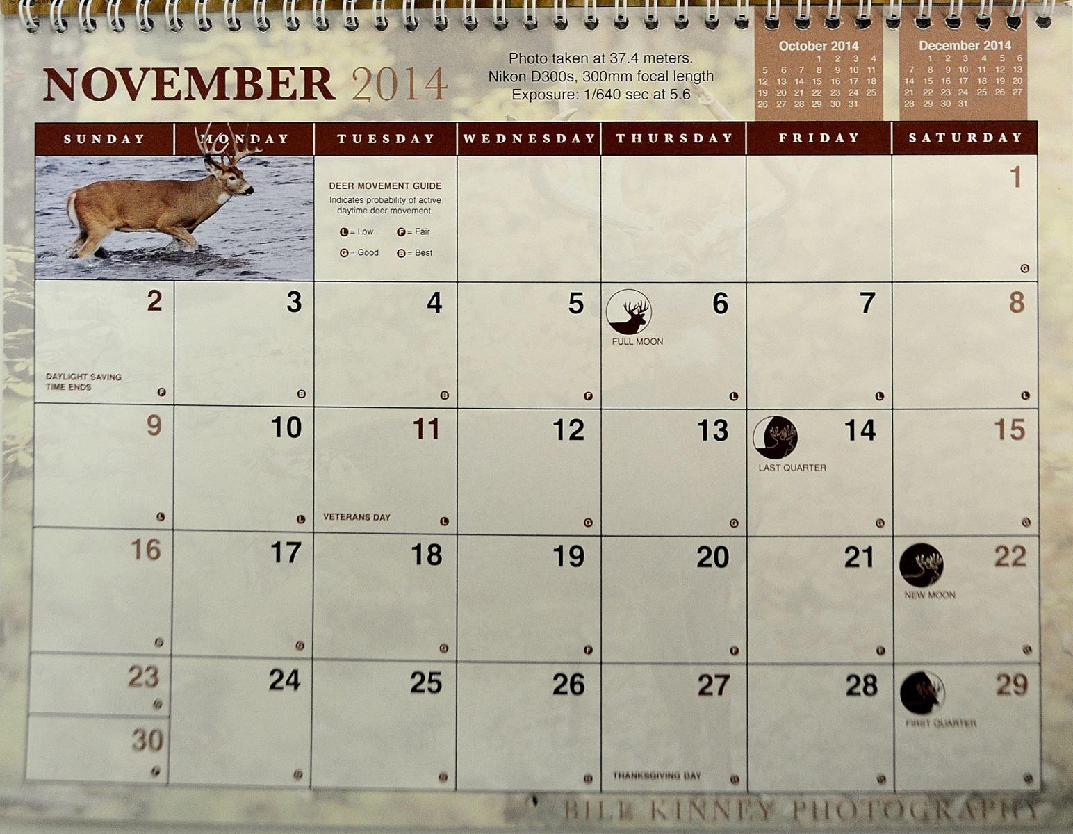 2014 Rut Predictions | Hunting Calendar, Time To Hunt, Deer