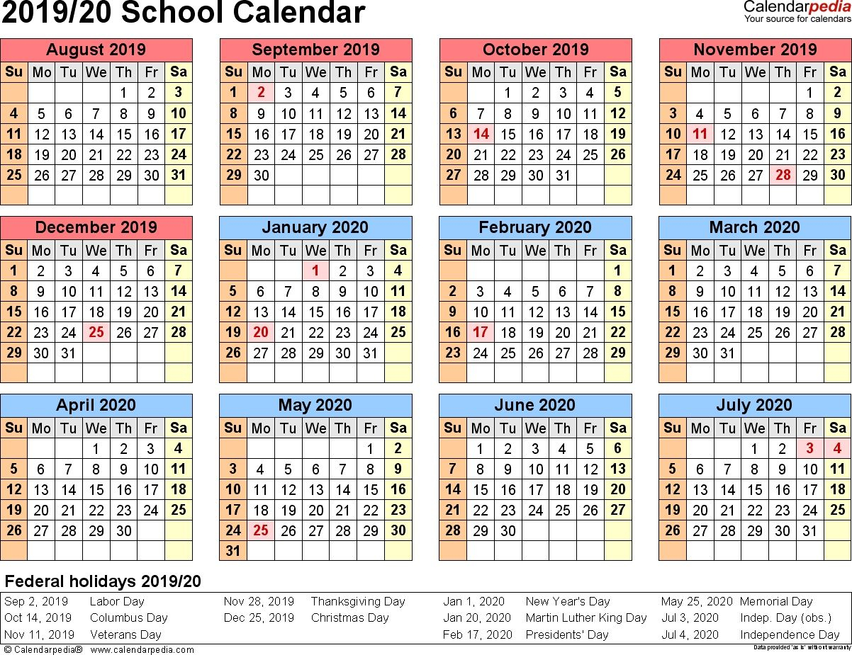 2015 And 2020 School Calendar Printable - Togo.wpart.co