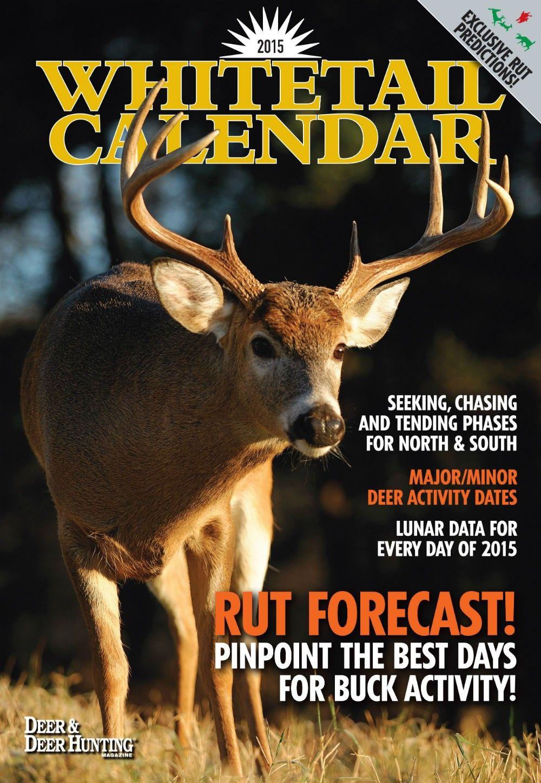 2015 Whitetail Lunar Wall Calendar Download | Deer Hunting