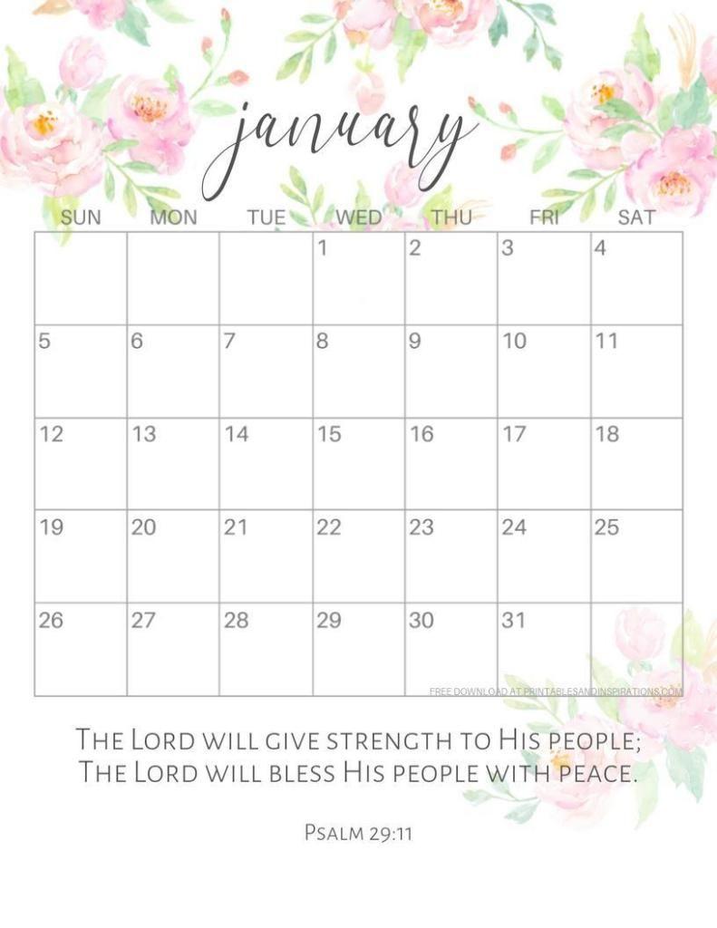 2019 2020 Bible Verse Calendar Free Printable | Print