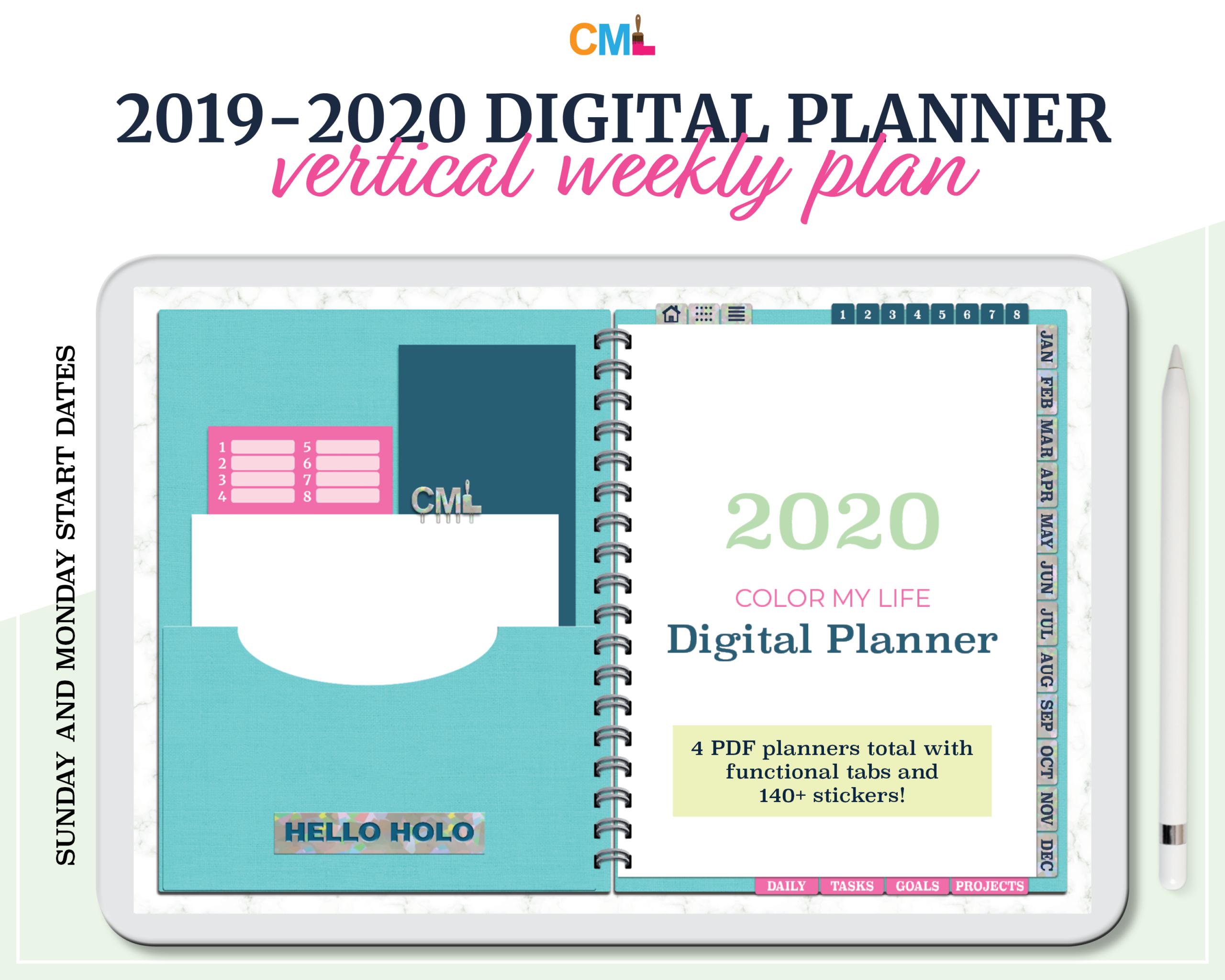"2019 - 2020 ""hello Holo"" Digital Planner"