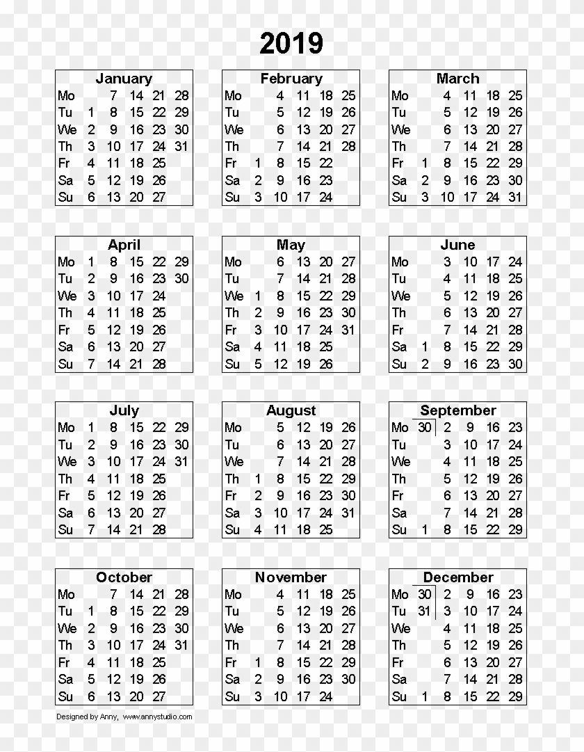 Pick 2019 Calendar With Week Numbers | Calendar Printables ...