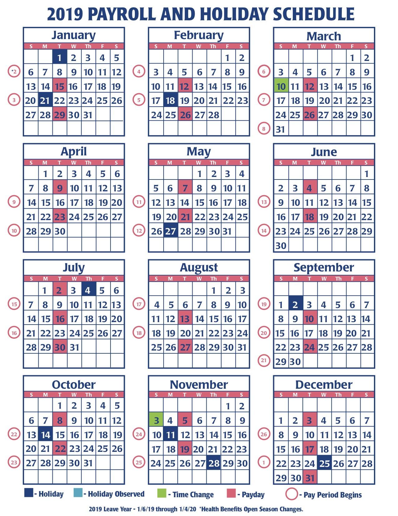 2019 Faa Payroll Calendar – Faa Managers Association