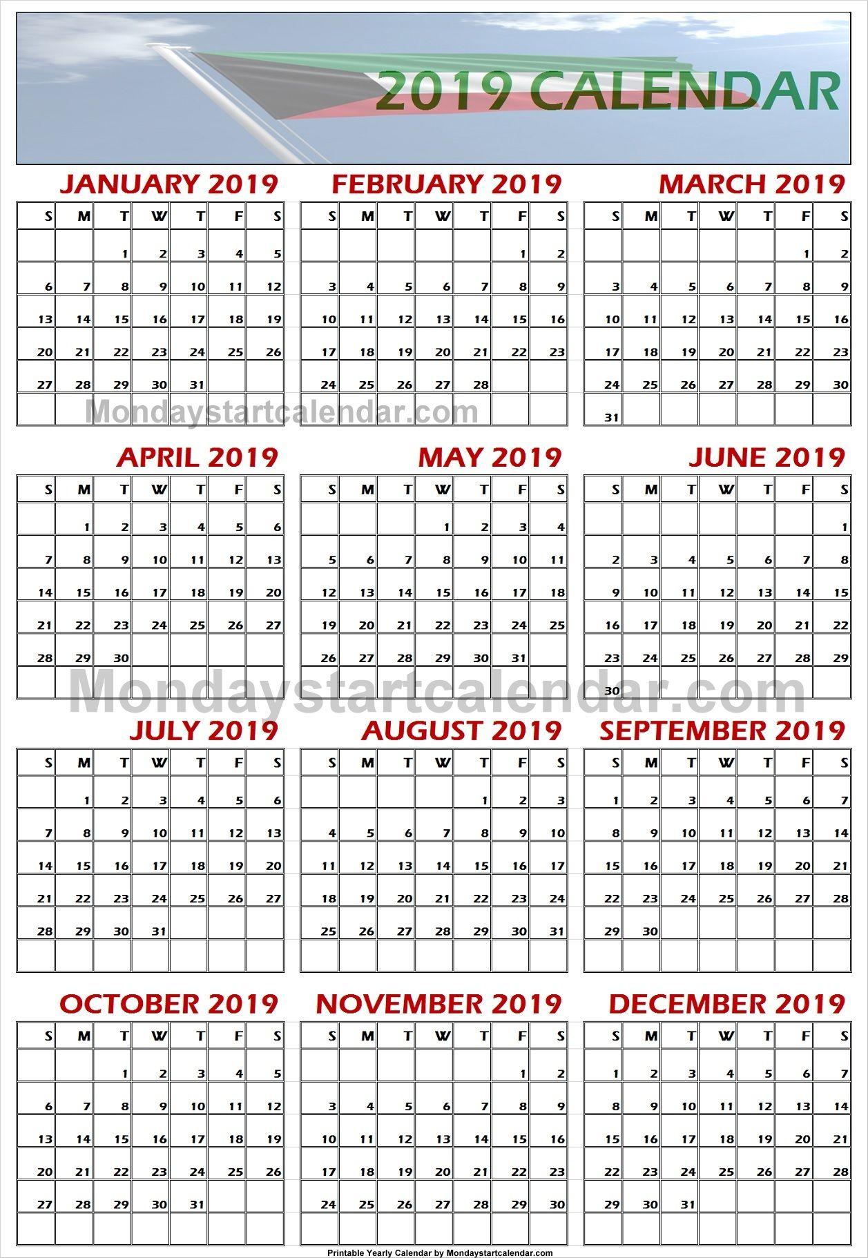 2019 Kuwait Calendar   School Holiday Calendar, Holiday