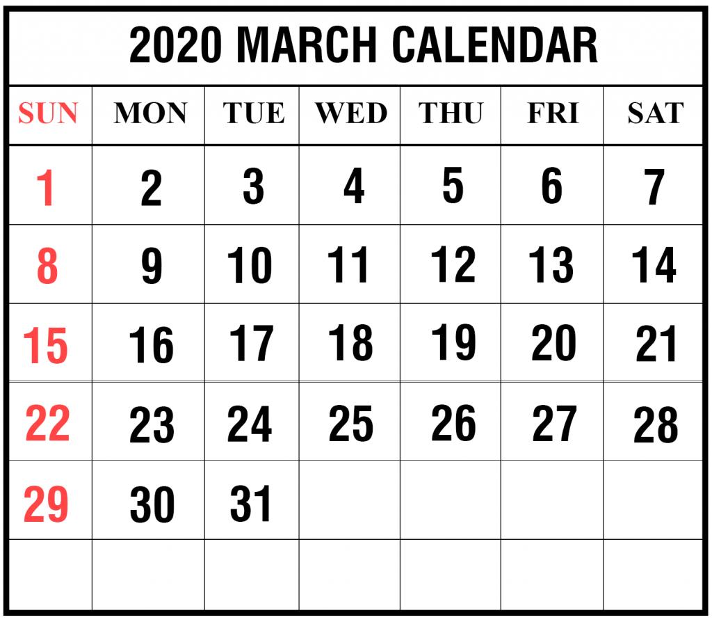 2020 17 Calendar Template - Togo.wpart.co