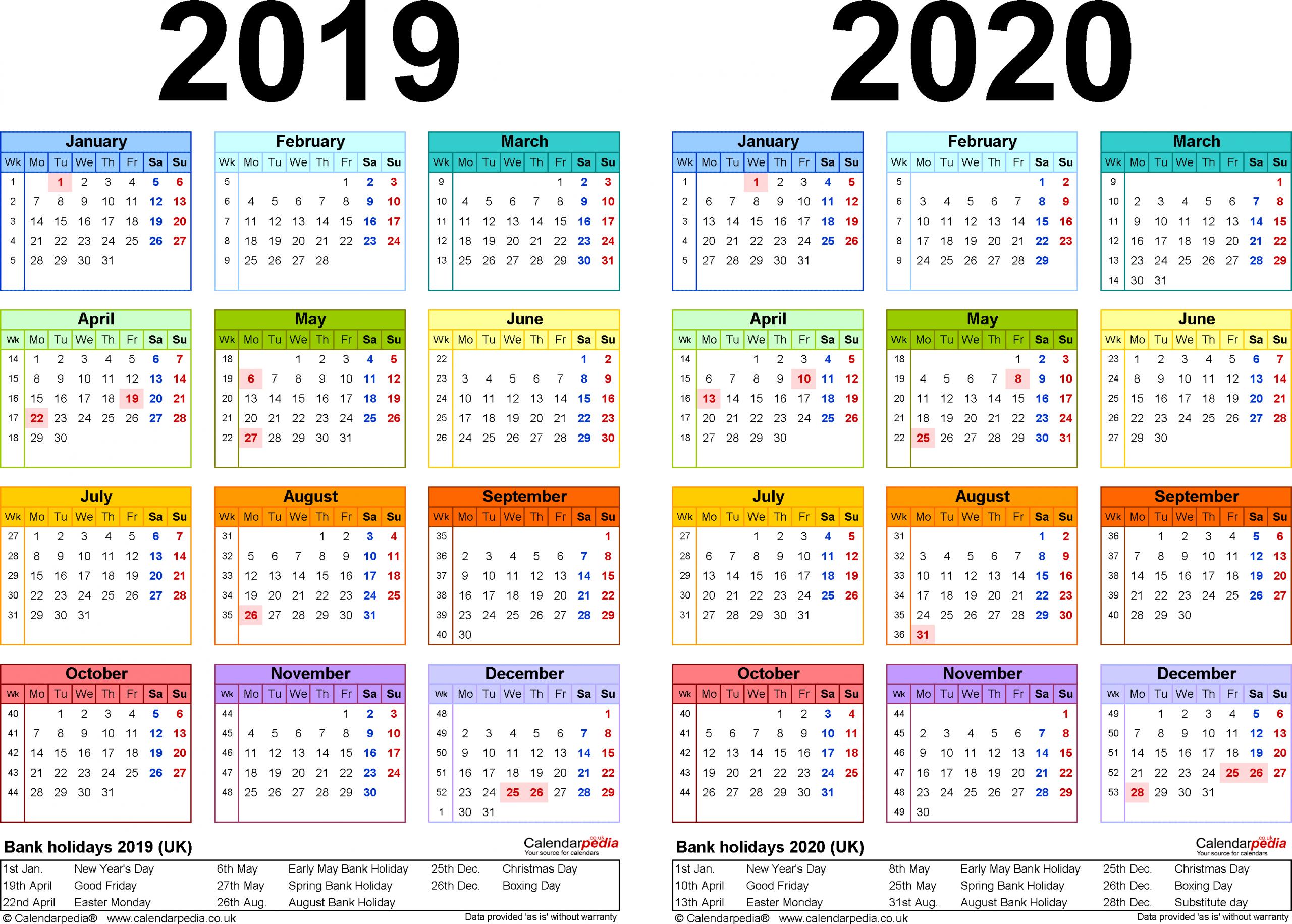 2020 18 Printable Calendar - Togo.wpart.co