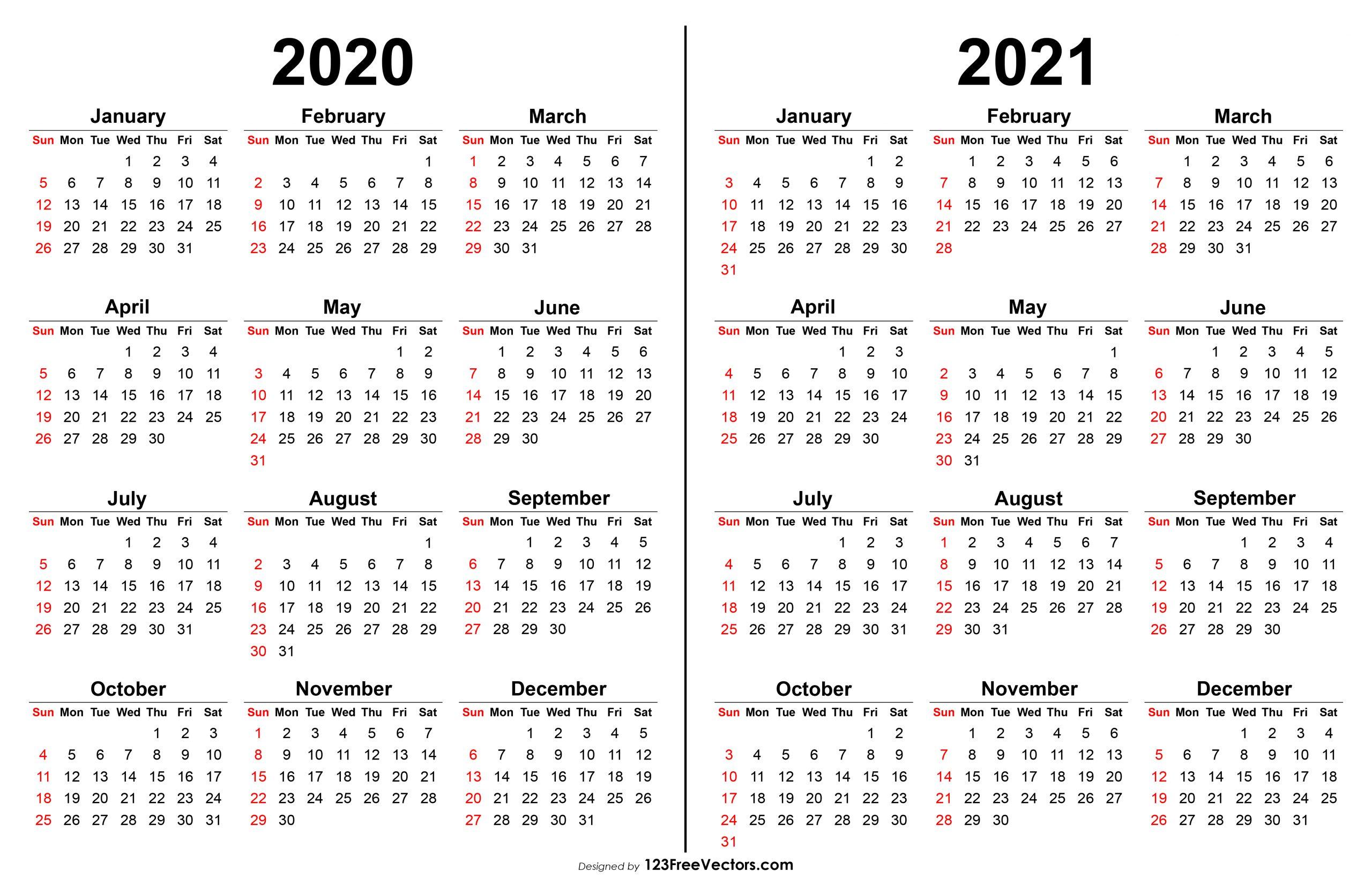 2020 2021 Calendar