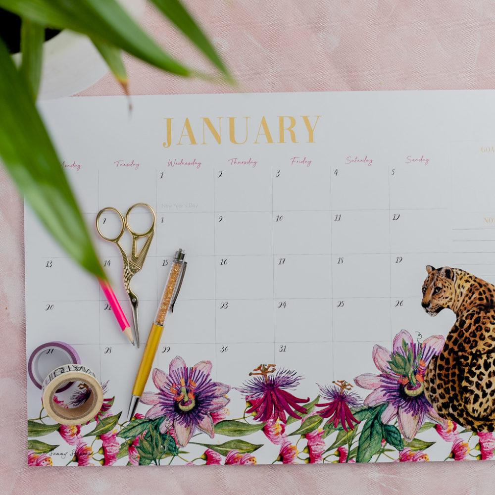 2020 A3 Desk Calendar
