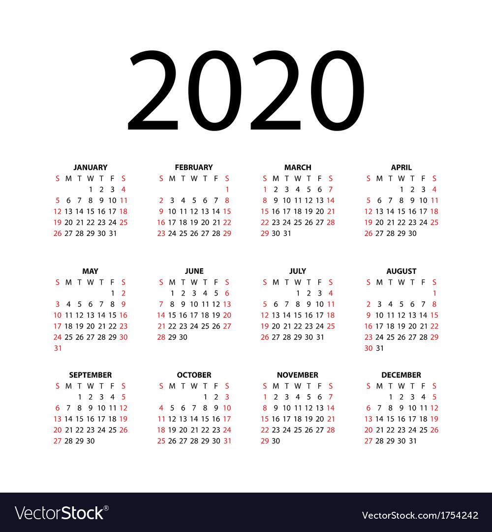 2020 Calendar Ai   Calendar Printable Free