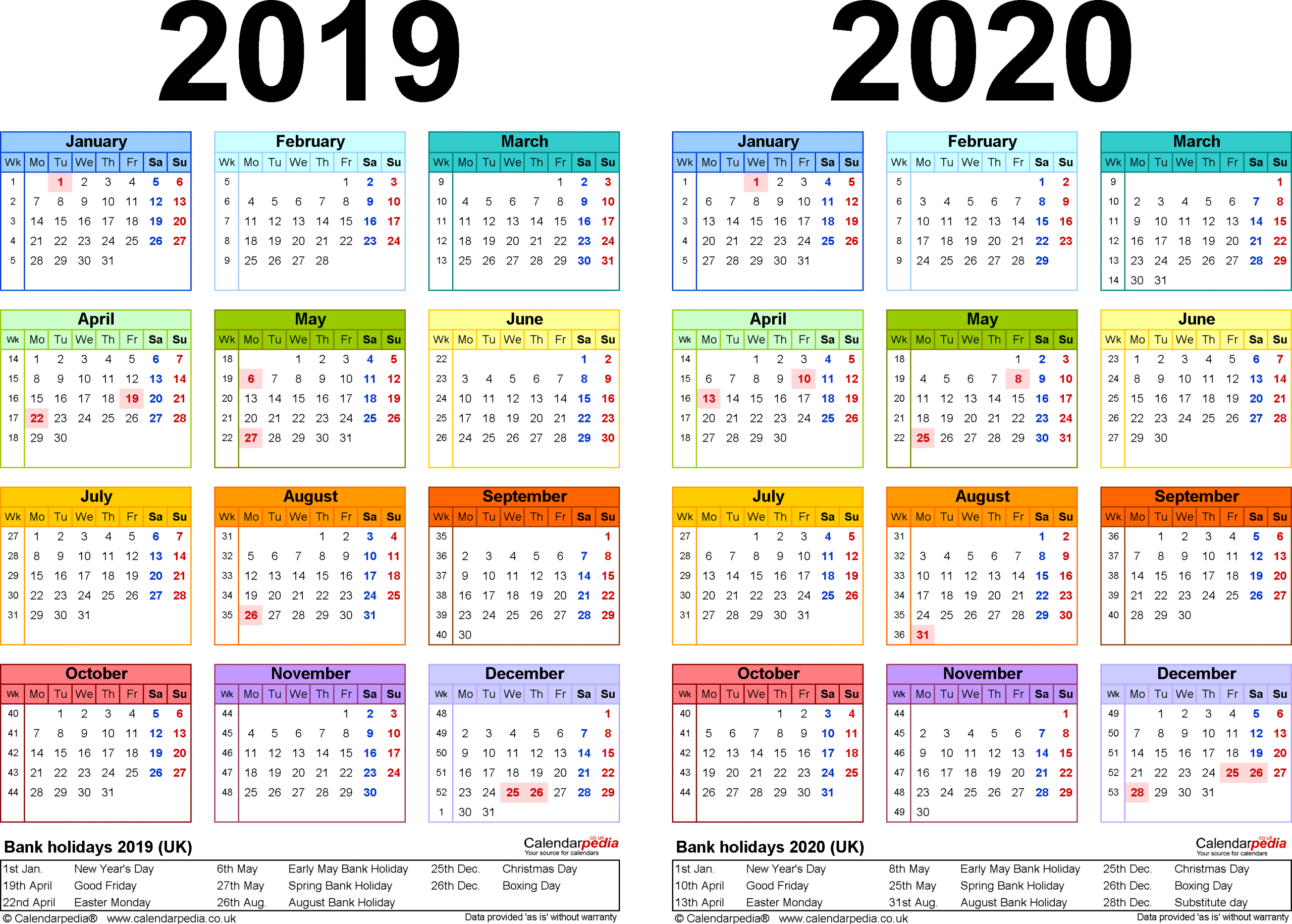 2020 Calendar Template Word 2010 - Togo.wpart.co