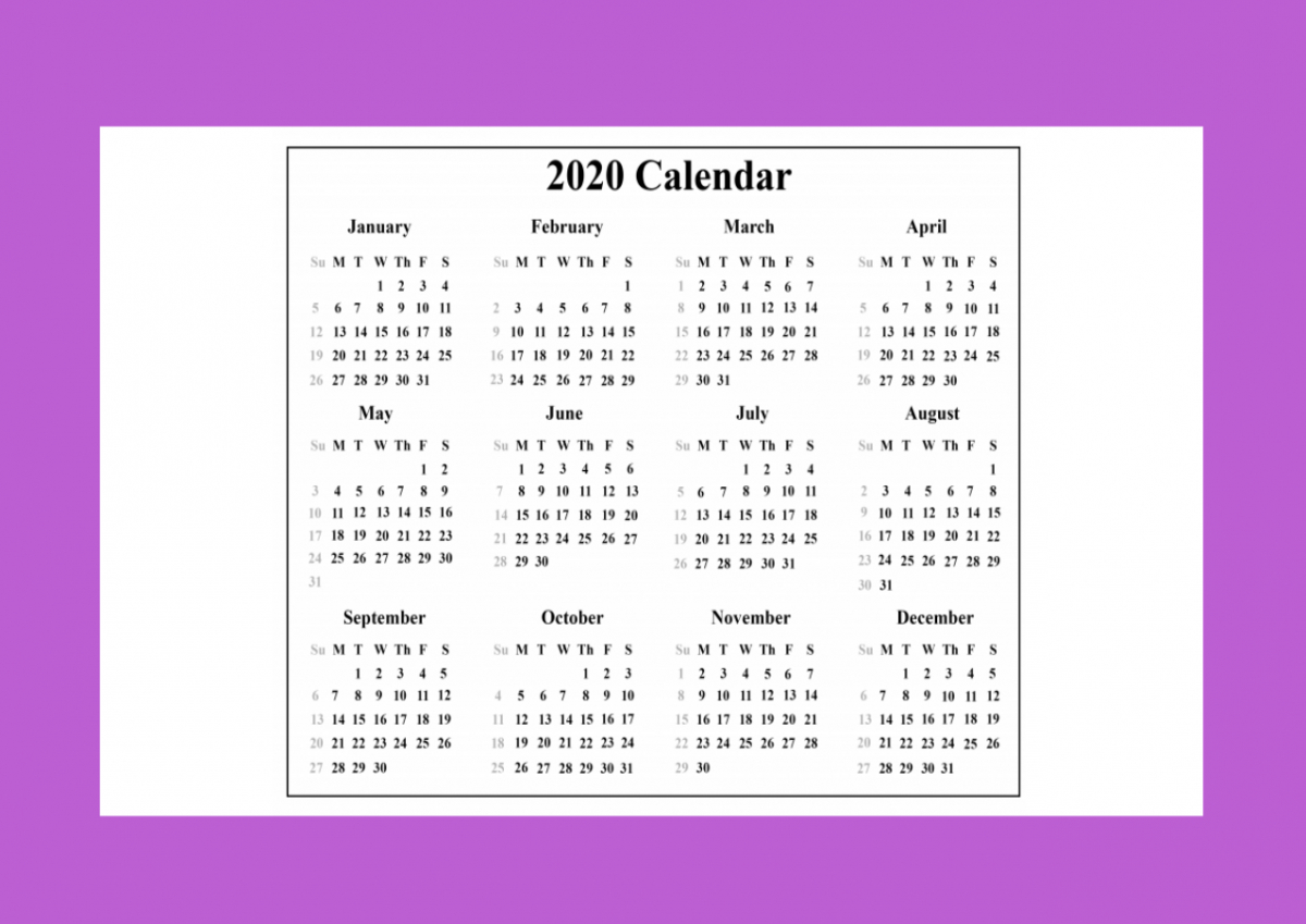 2020 Calendar With Indian Holidays Pdf Free Download - Muddoo