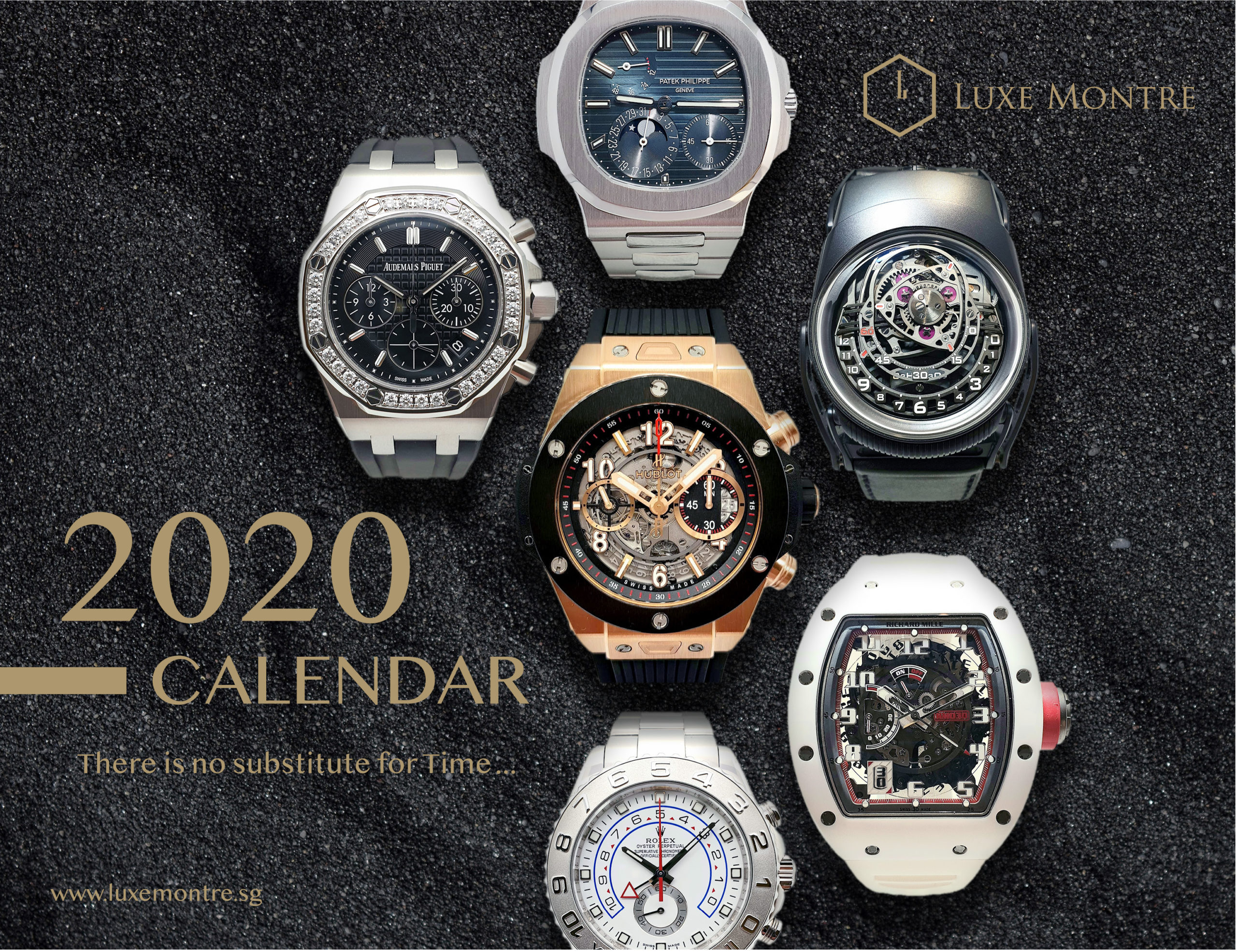 2020 Digital Calendar Download - Luxe Montre Singapore