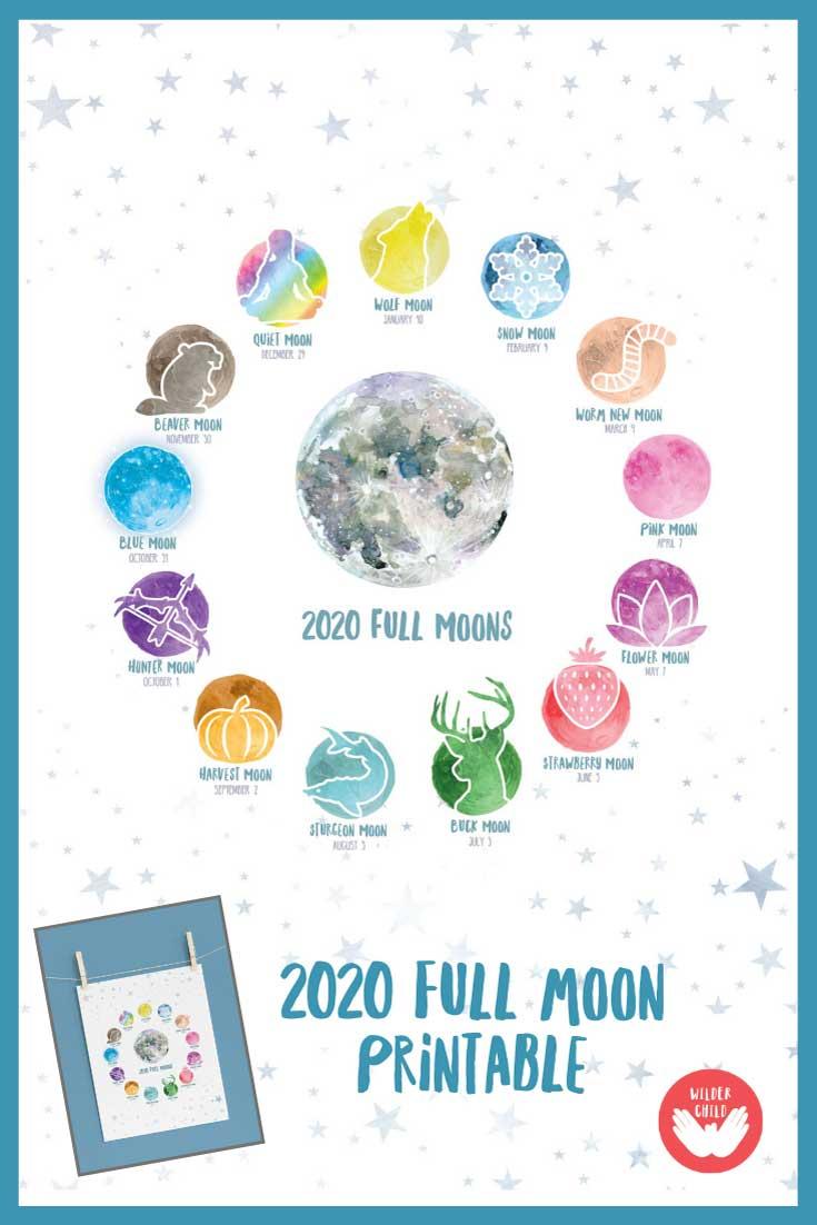 2020 Full Moon Poster - Wilder Child