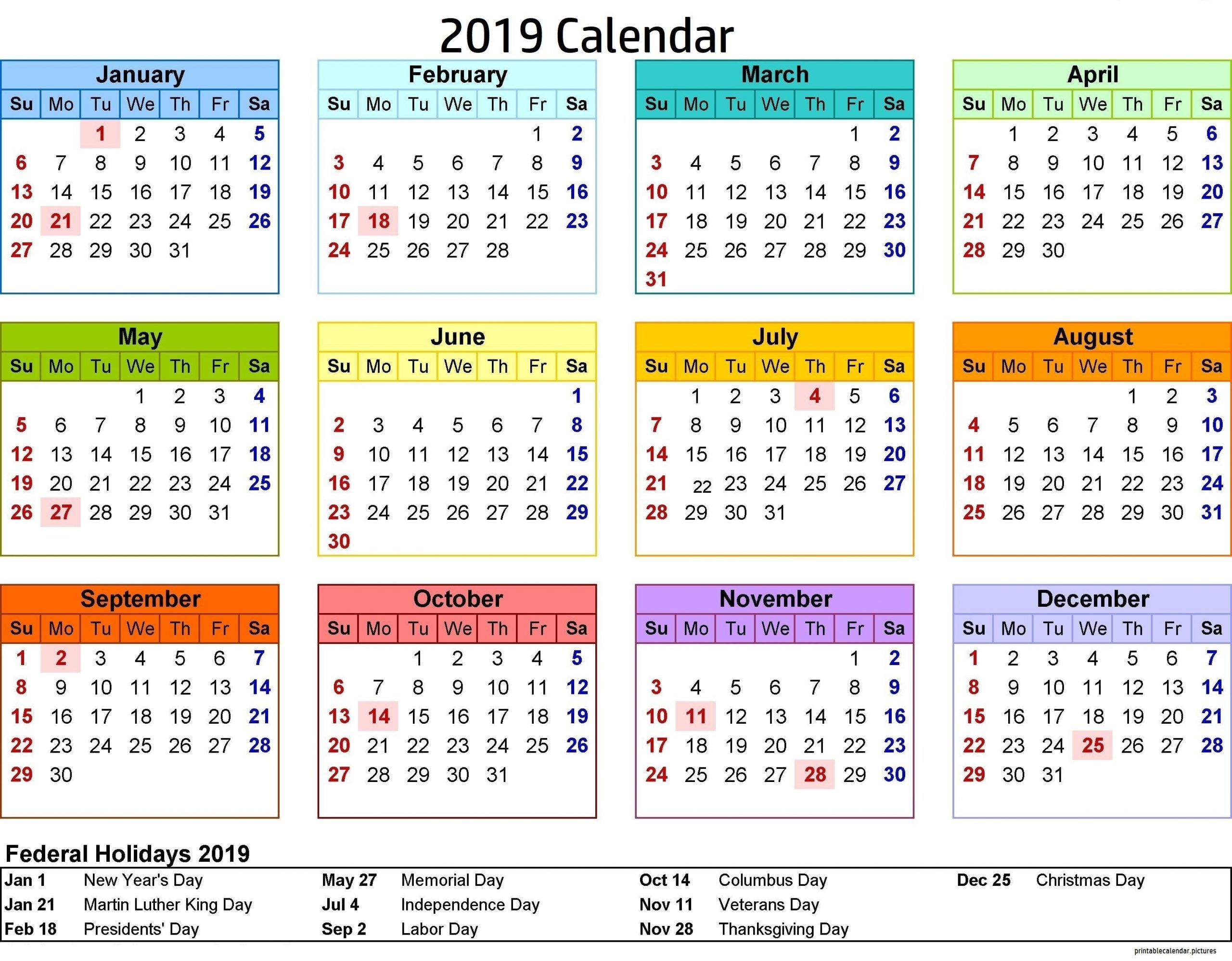 2020 Holiday Calendar Federal | Calendar Printable Free