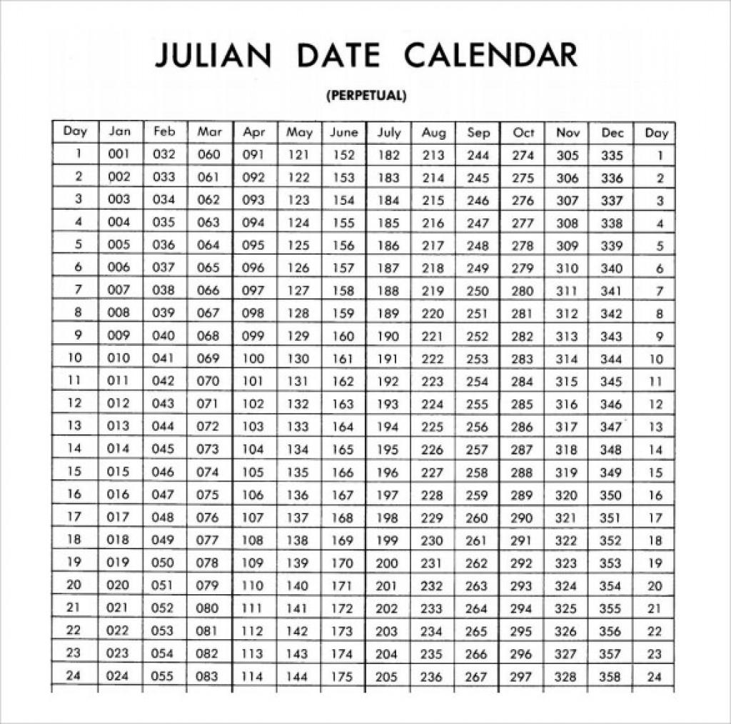 2020 Julian Date Calendar Printable - Togo.wpart.co