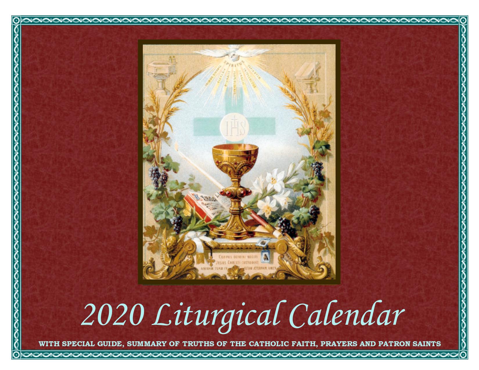 2020 Liturgical Calendar