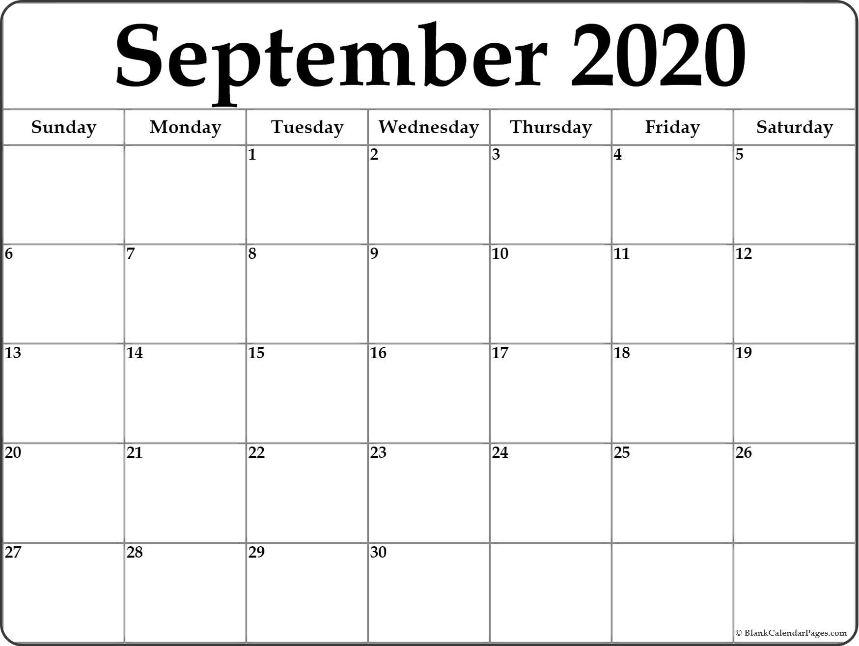 2020 Monthly Calendar Printable - Togo.wpart.co