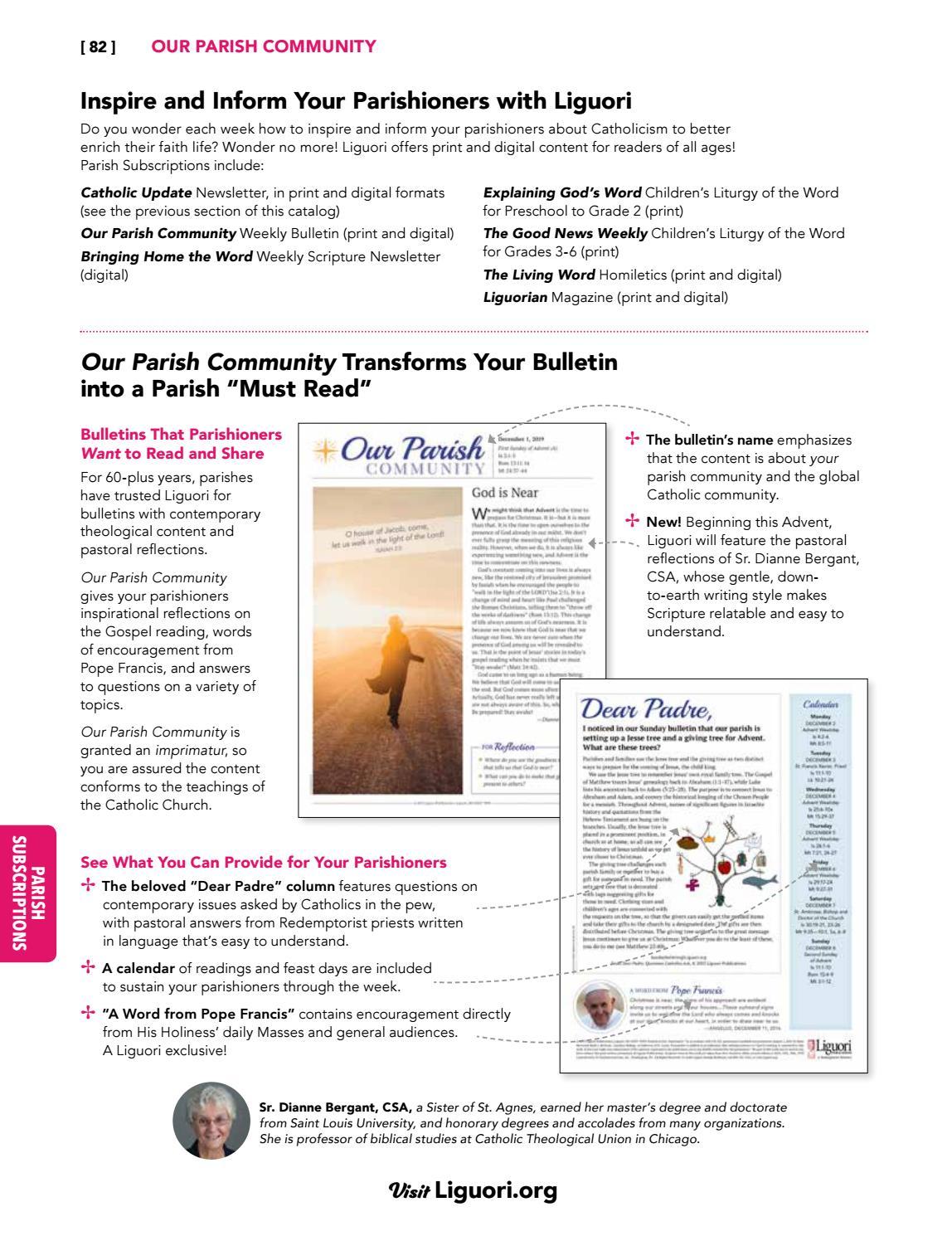 2020 Parish Subscriptions Catalog By Liguori Publications