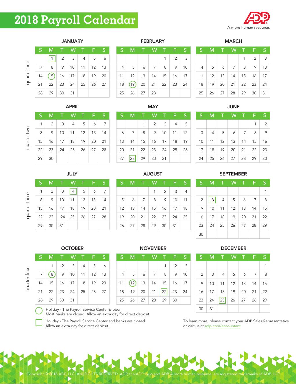 2020 Payroll Calendar Adp Canada | Payroll Calendar 2020