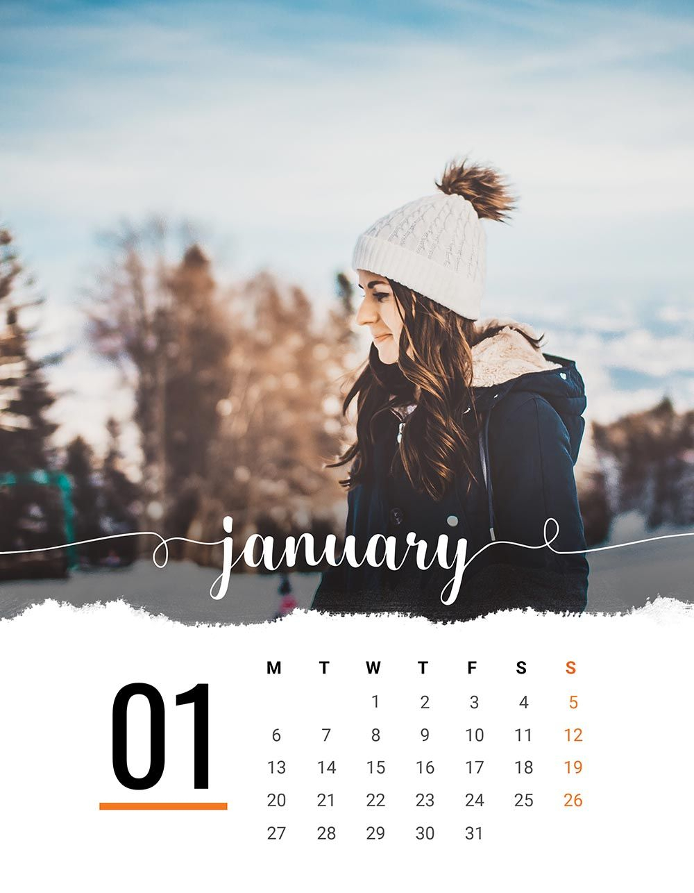 2020 Printable Calendar Template | Add Your Own Photos