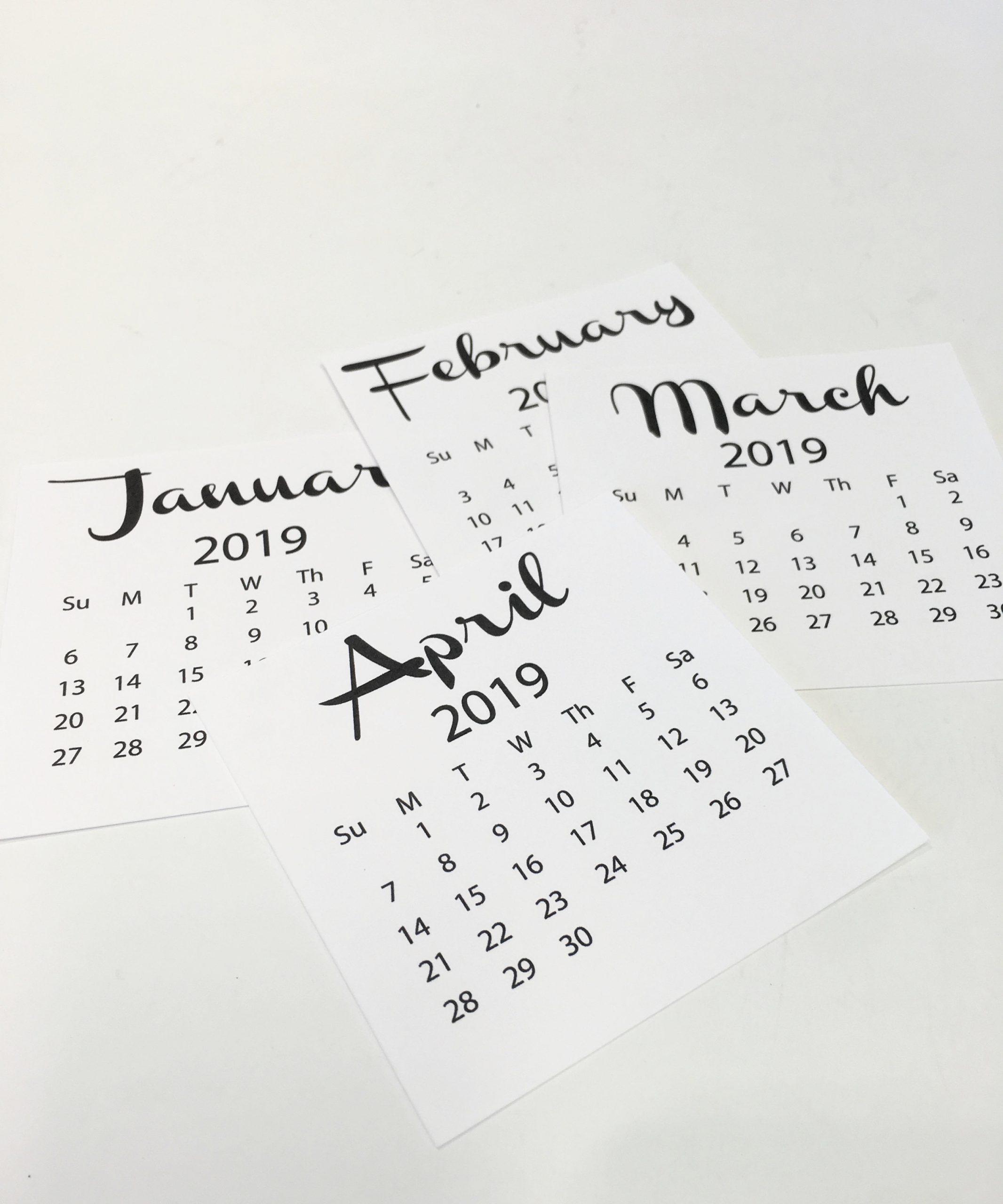 2020 Refill Desk Calendar + 2020 Desktop Calendar (4 X 4) (Refill Only)