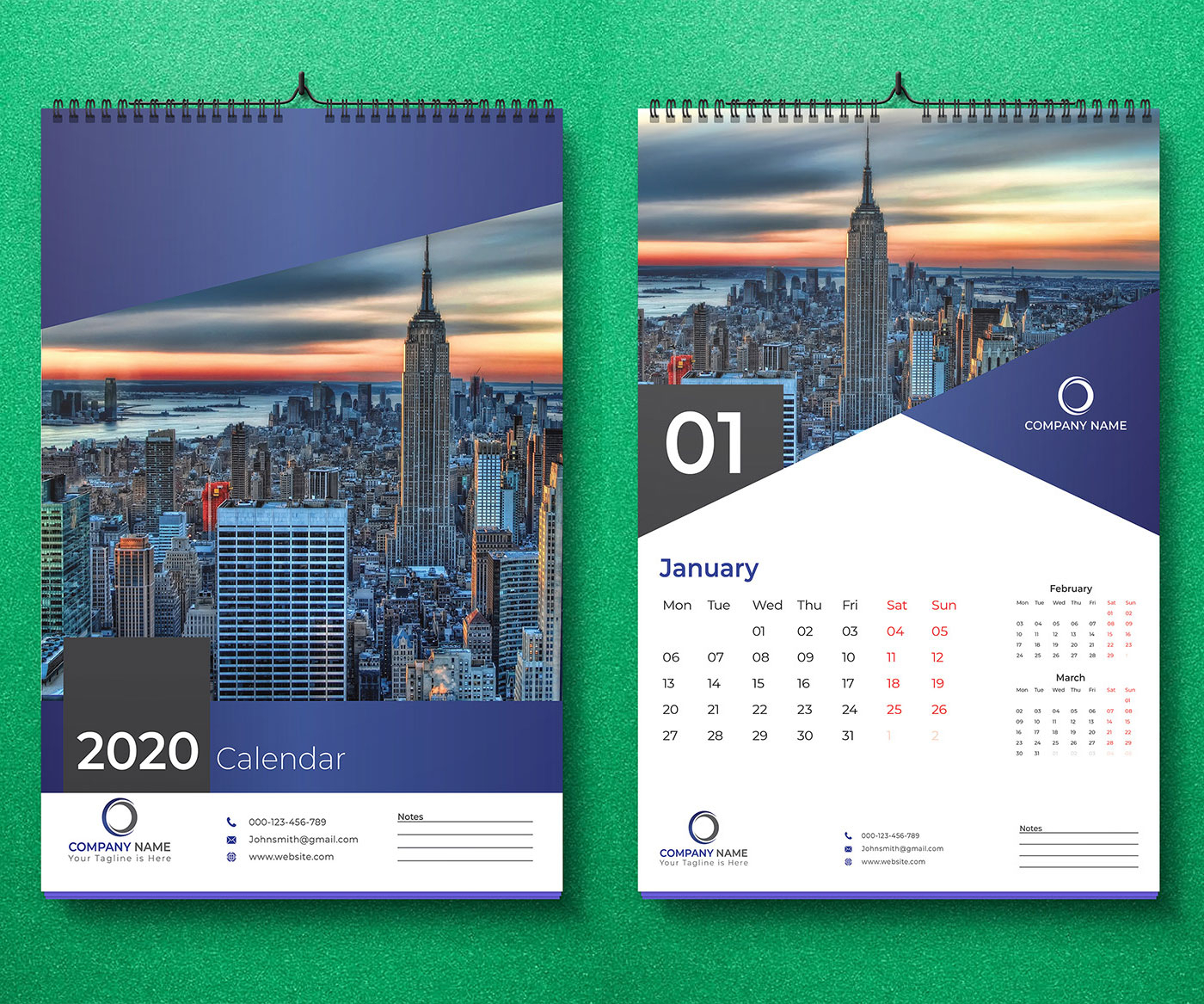Take Calendar 2020 Ideas