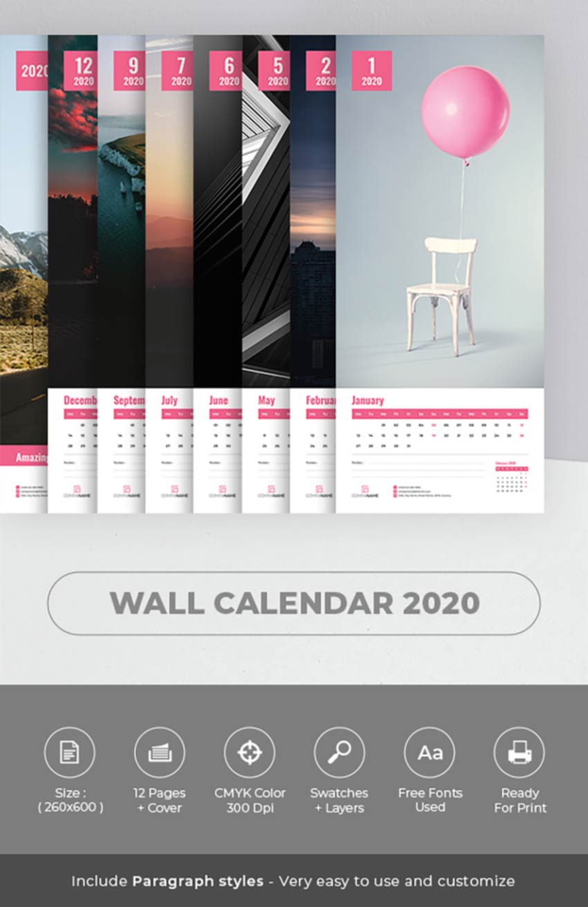 26 Best Indesign Calendar Templates (New For 2020)