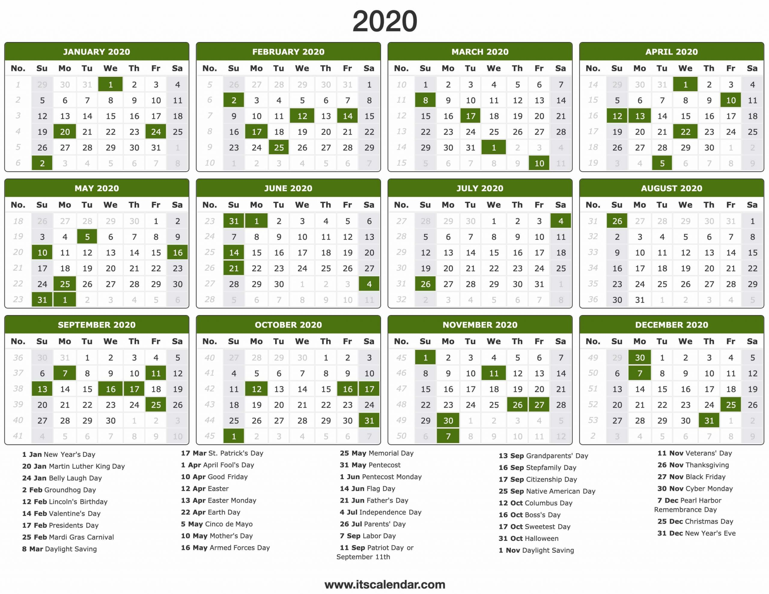30 Day Calendar 2020 - Togo.wpart.co