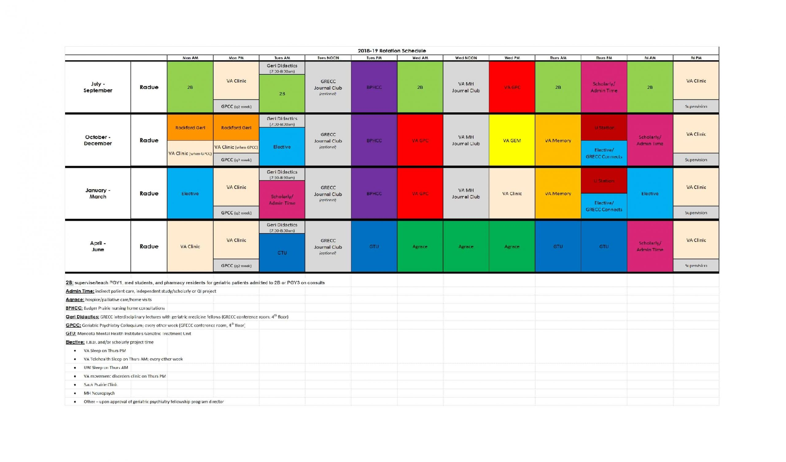 50 Free Rotating Schedule Templates For Your Company