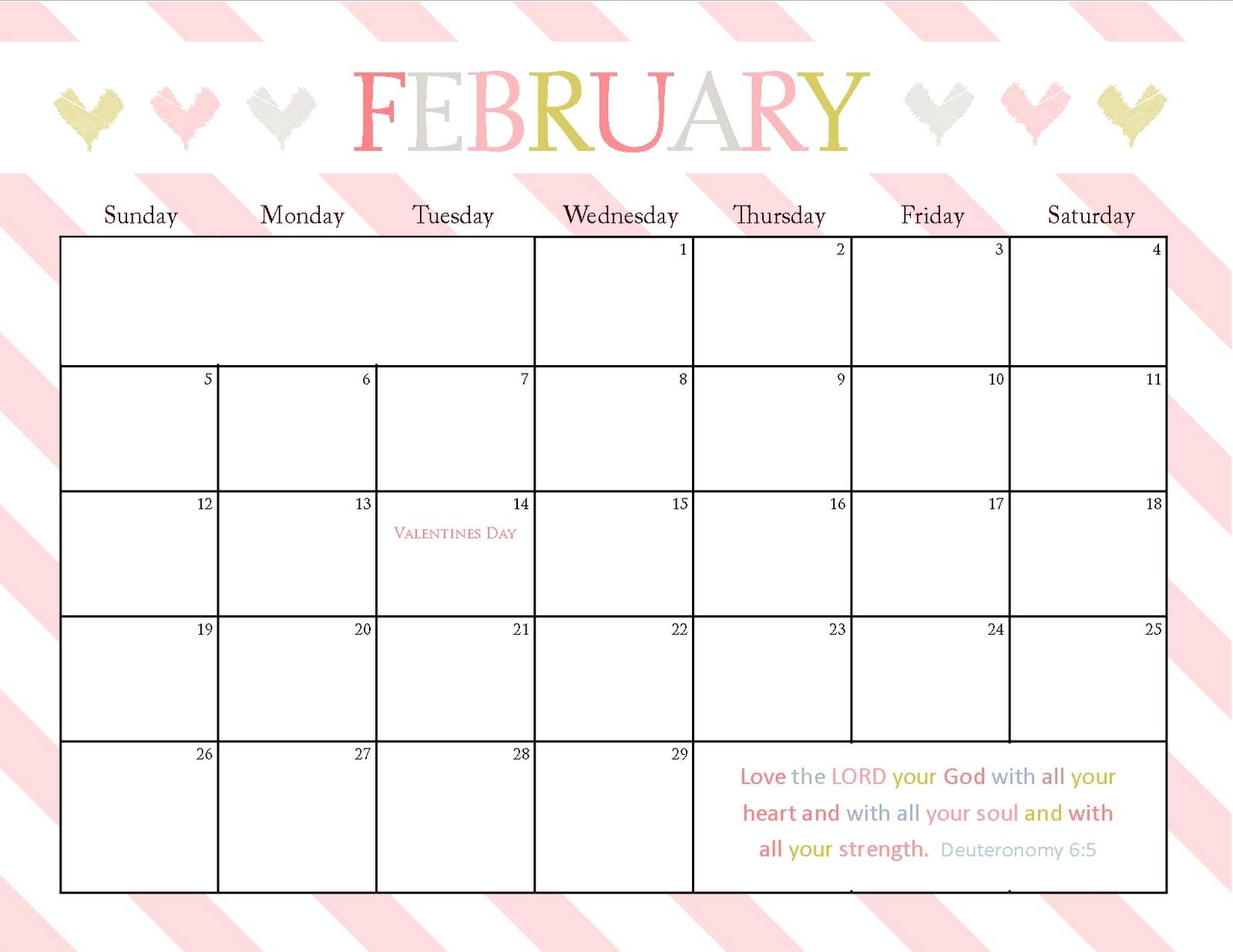8.5 X 11 2016 Calendars Printable | Calendar Template 2019