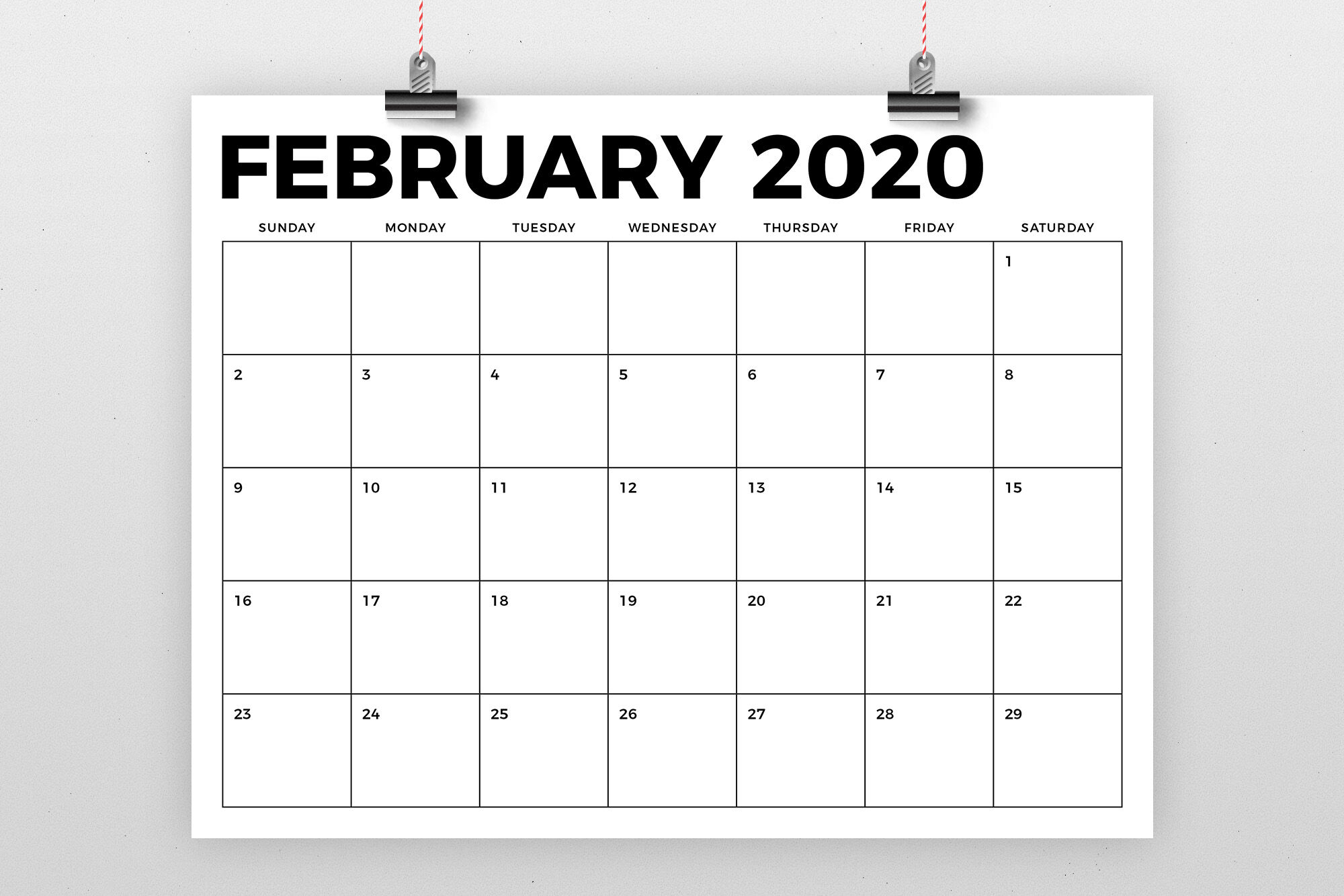 8.5 X 11 Inch Bold 2020 Calendar By Running With Foxes