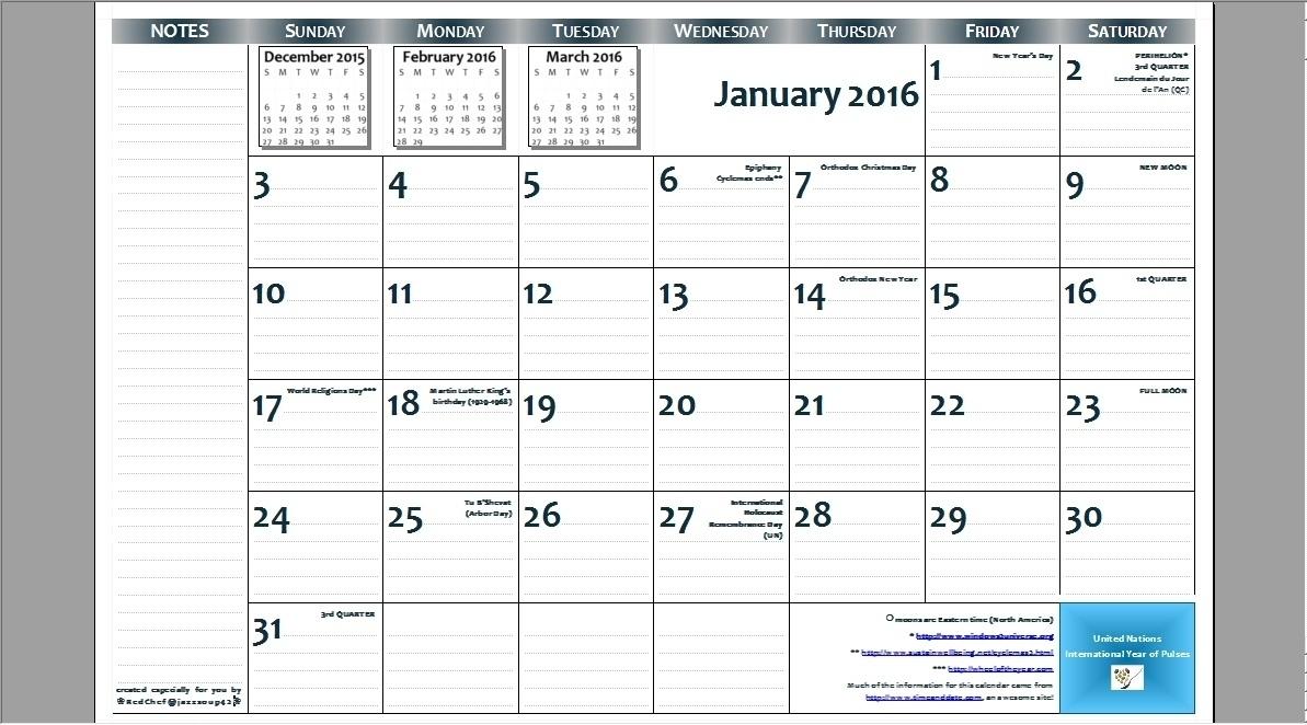 8 X 11 Blank Calendar Template | Calendar Template Information
