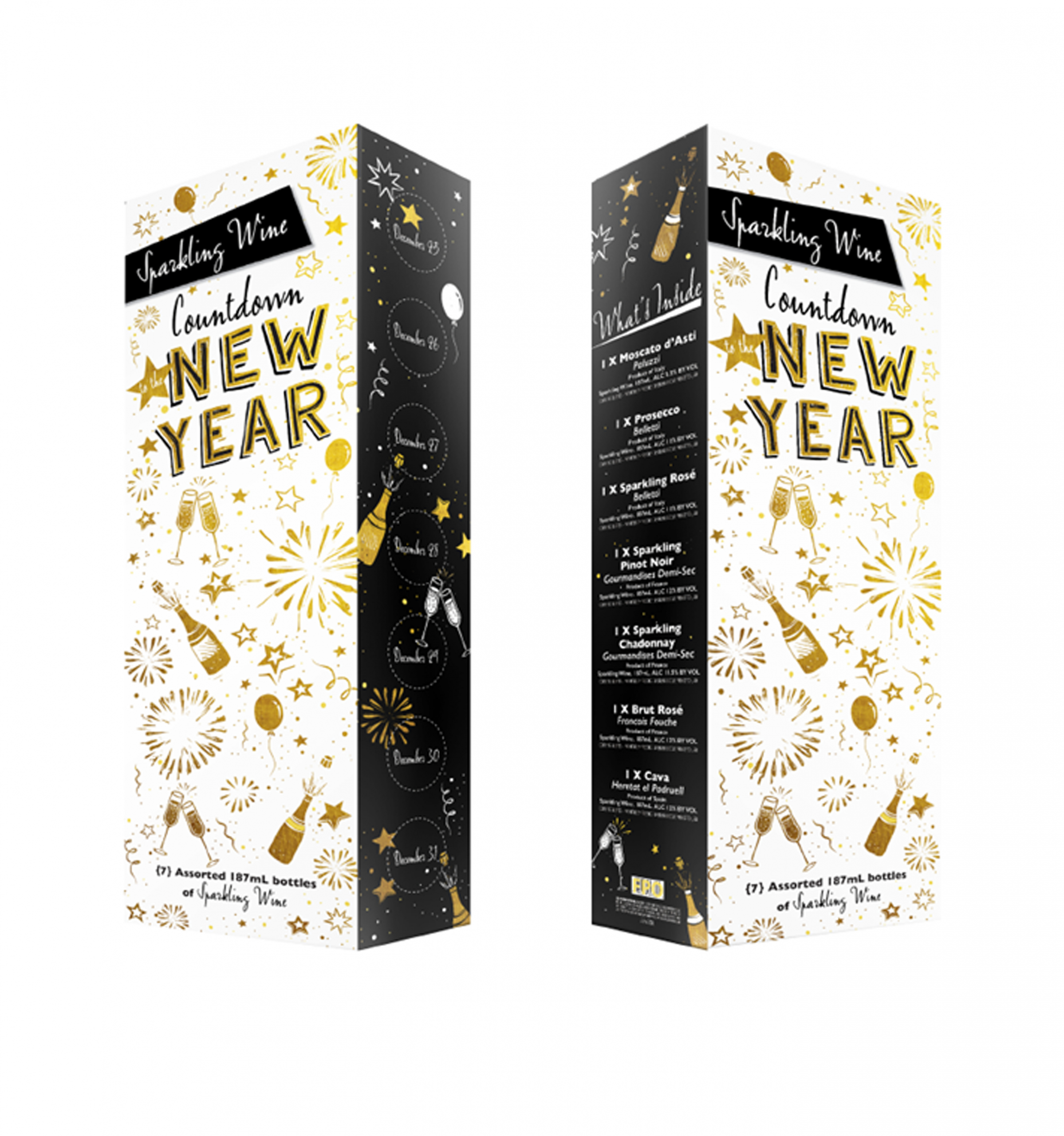 Aldi's 2020 New Year's Countdown Calendar Has 7 Bottles Of