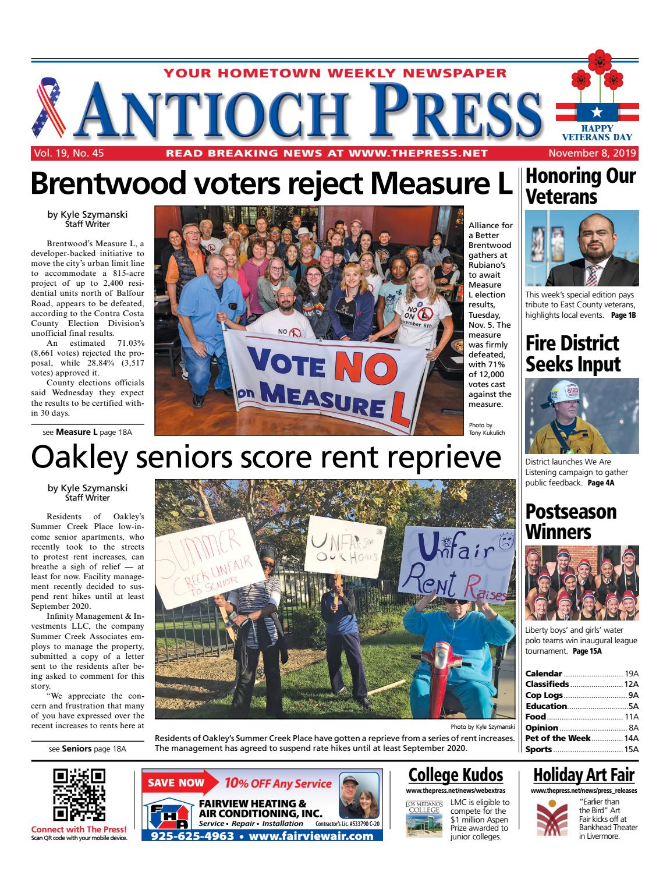 Antioch Press 11.08.19 By Brentwood Press & Publishing - Issuu