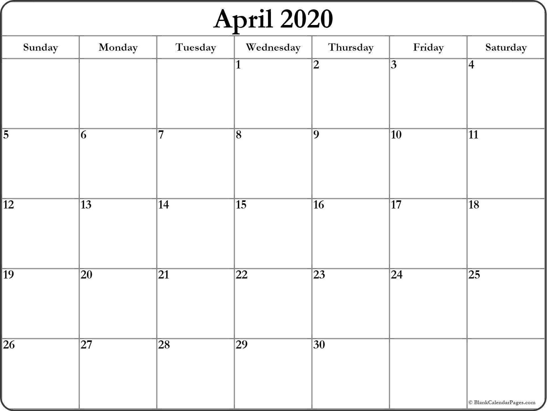 April 2020 Template - Togo.wpart.co