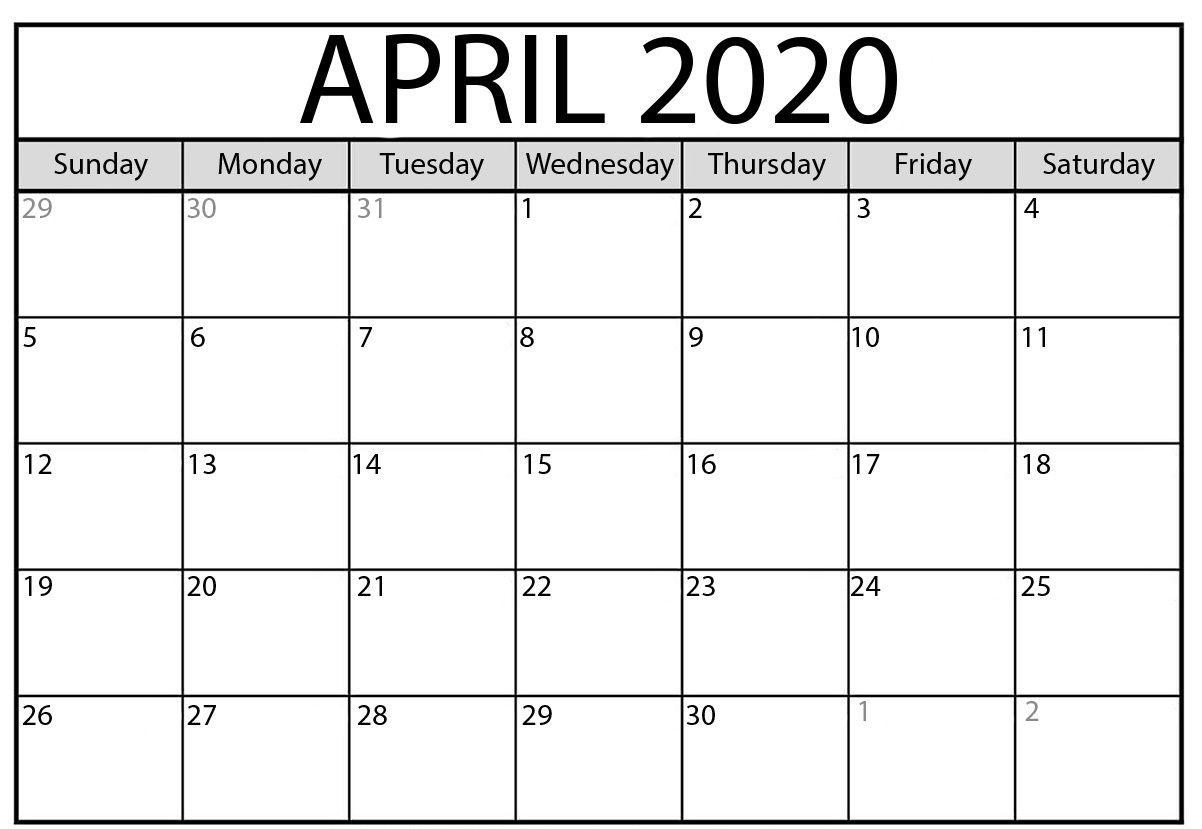 April Calendar 2020 | August Calendar, Monthly Calendar