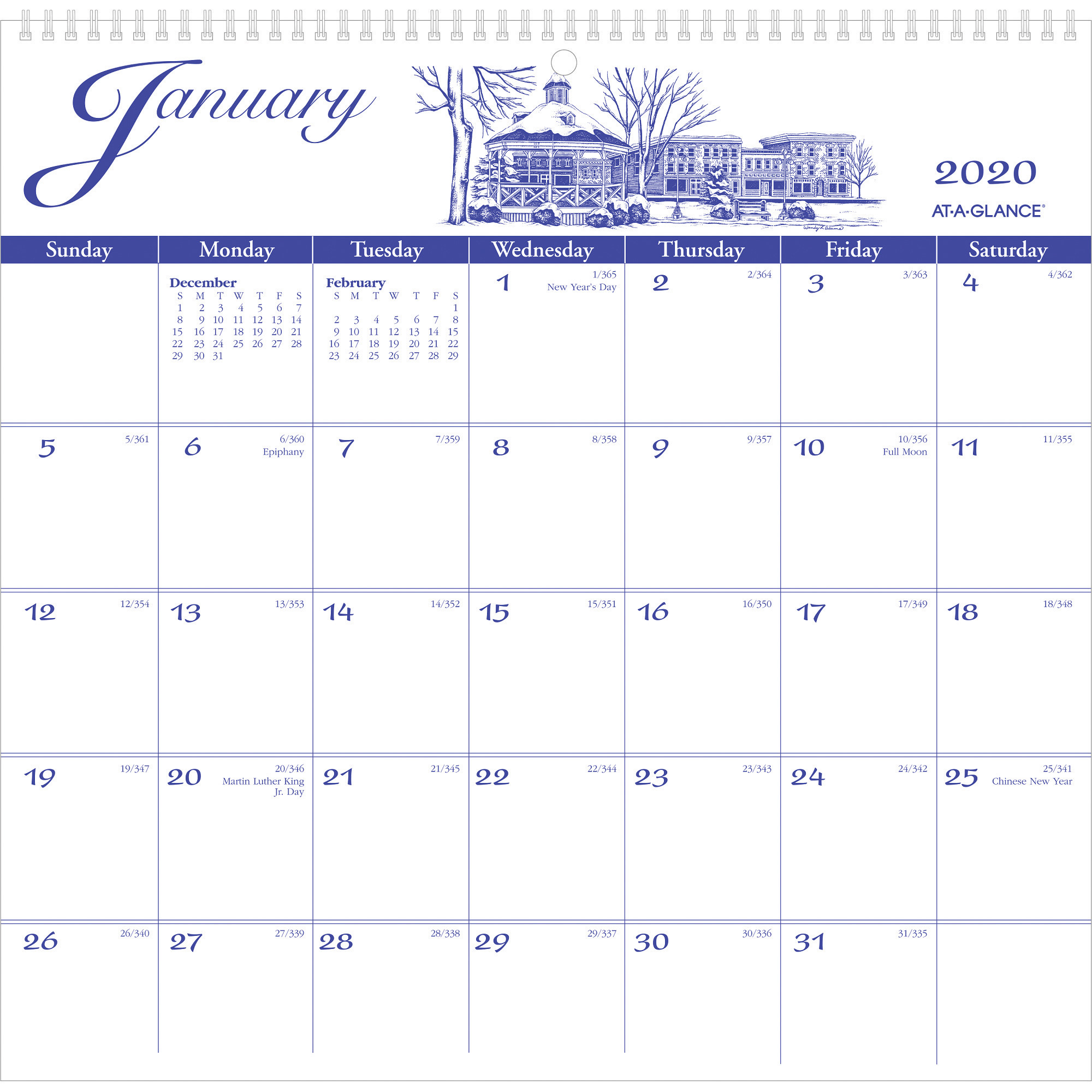 At-A-Glance Illustrators Edition Monthly Wall Calendar - Yes