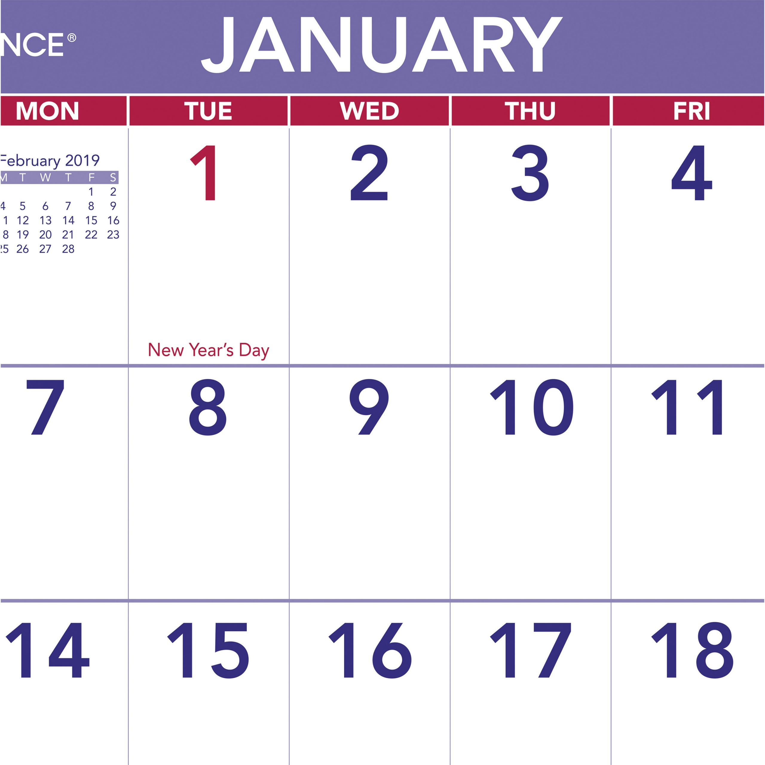 """At-A-Glance Mini Wall/desk Monthly Calendar - Yes - Monthly - 1 Year -  January 2020 Till December 2020 - 1 Month Single Page Layout - 6 1/2"""" X 7  1/2"""""""