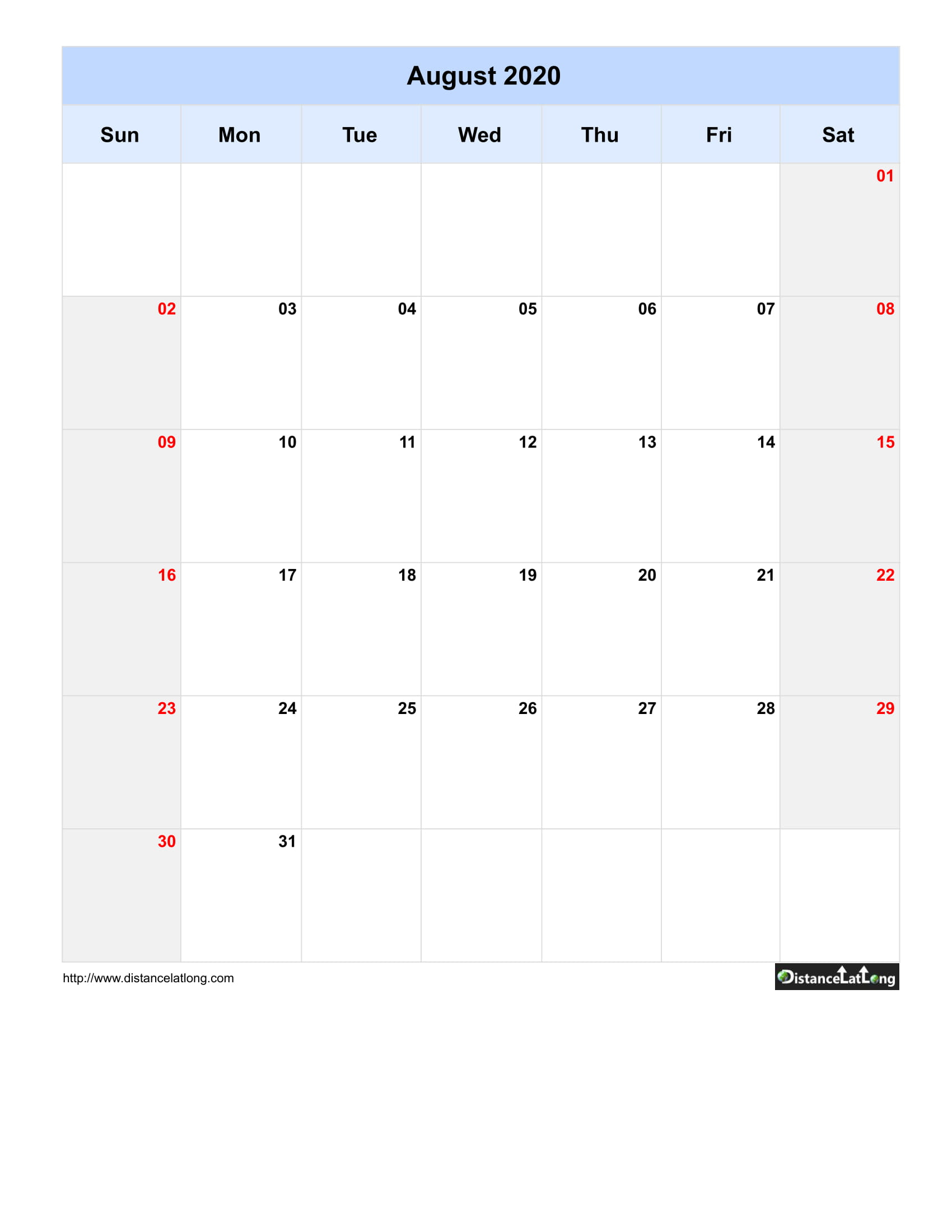 August Calendars For Pdf, Words And Jpg Formats