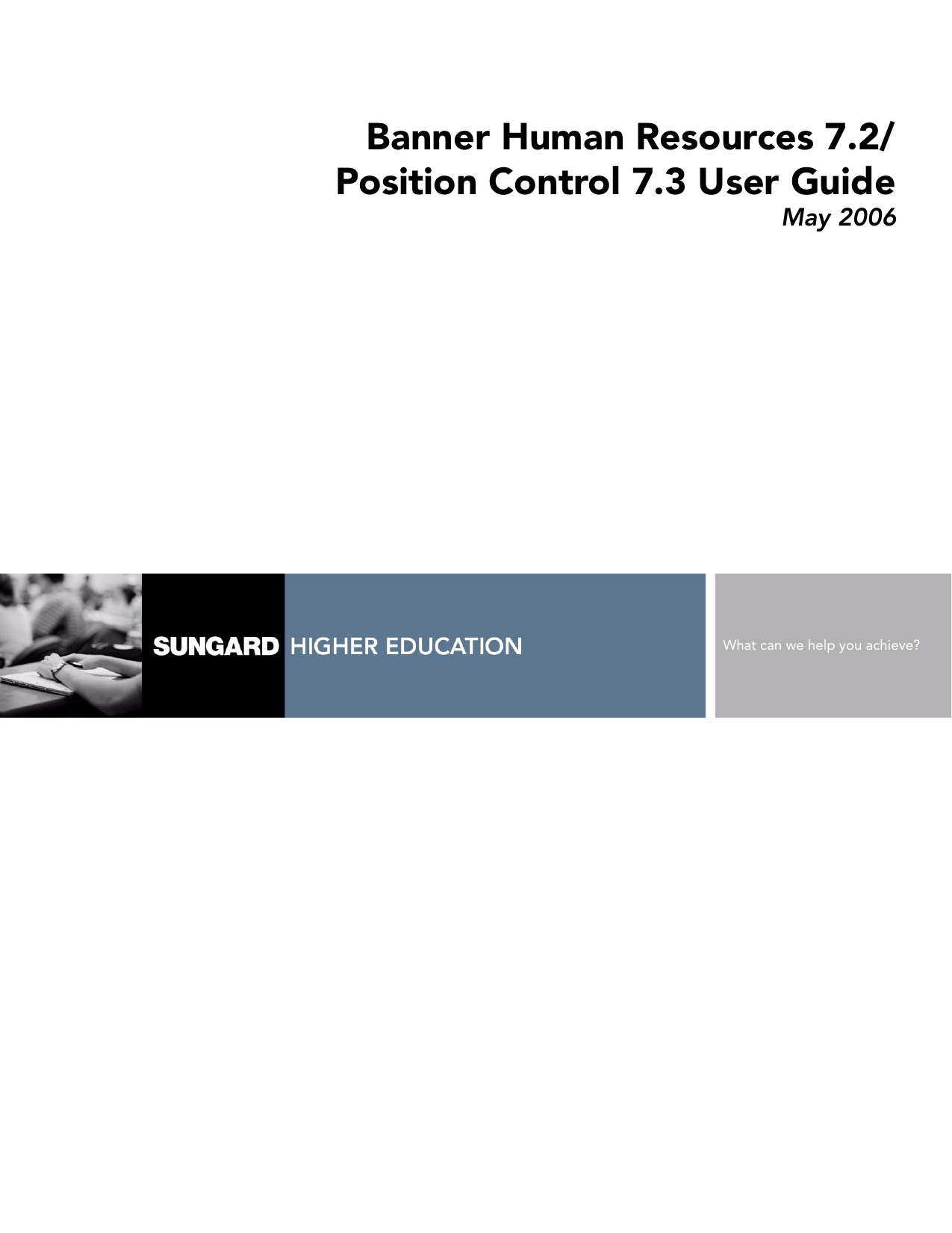 Banner Human Resources / User Guide / 7.2   Manualzz