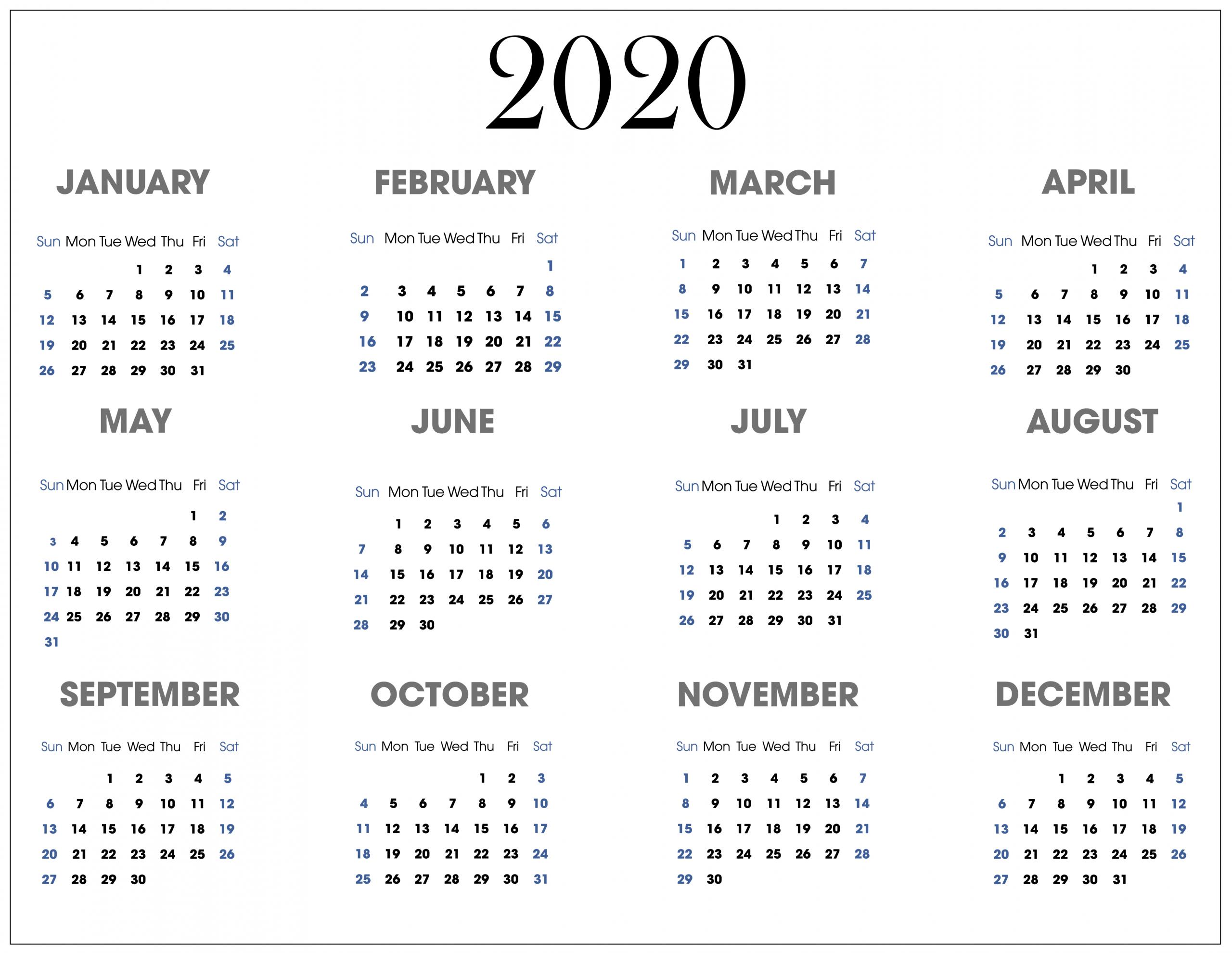 Beautiful Wallpaper Calendar For 2020 | Free Printable