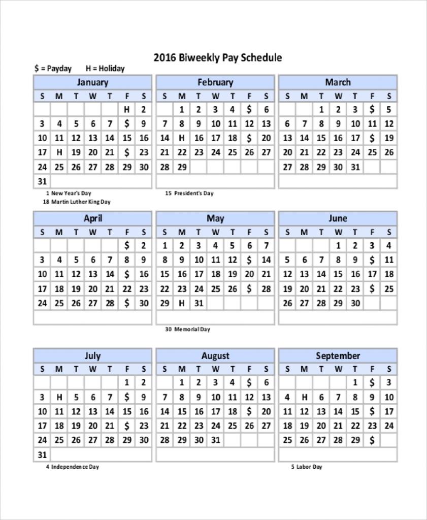 Bi Weekly Pay Calendar 2020 - Togo.wpart.co