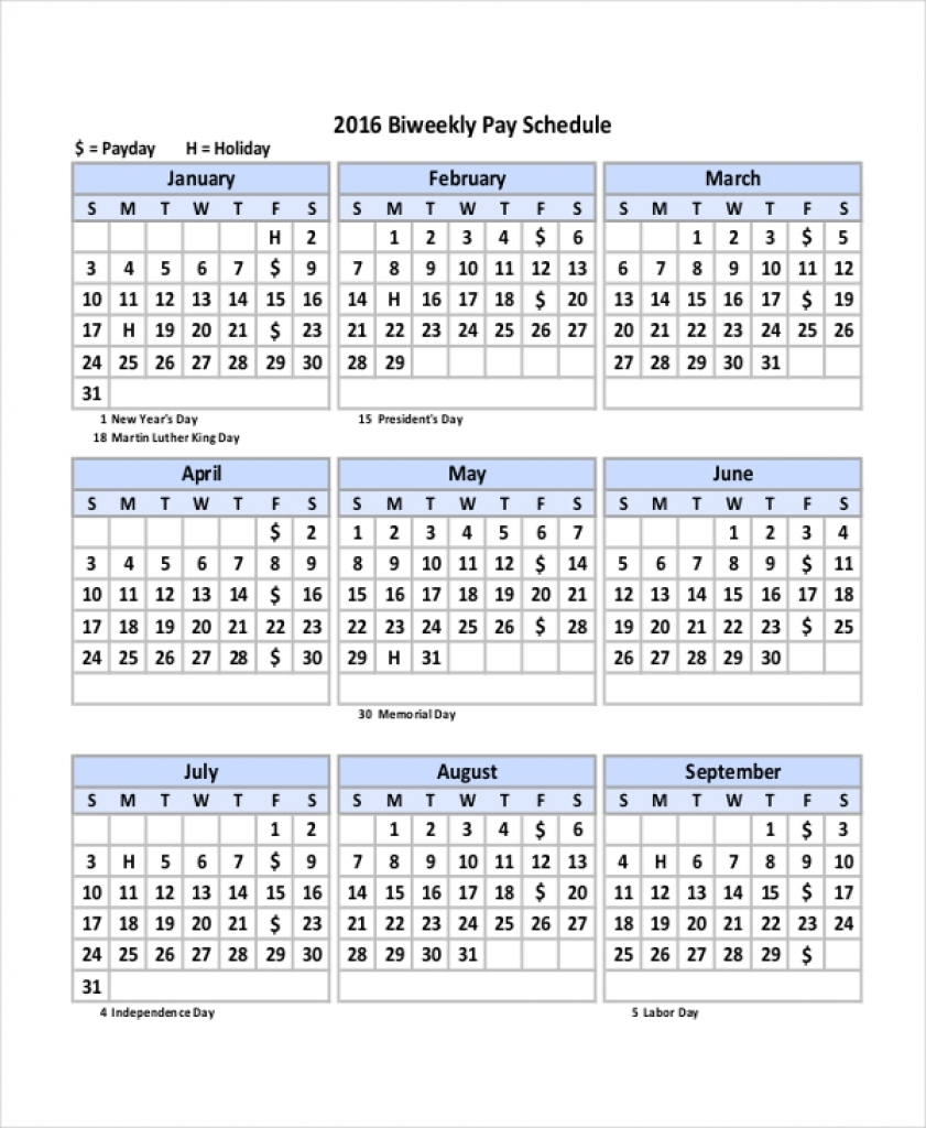 Bi Weekly Payroll Calendar 2020 - Togo.wpart.co